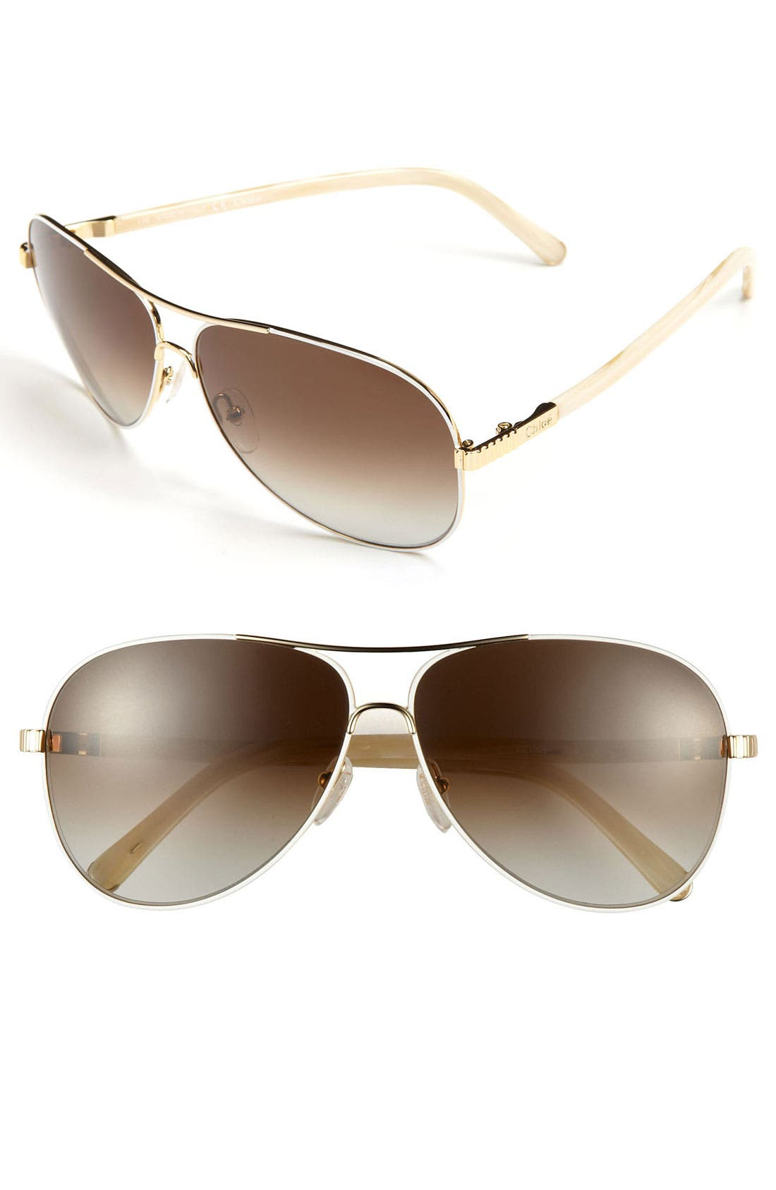 Main Image - Chloé 61mm Aviator Sunglasses