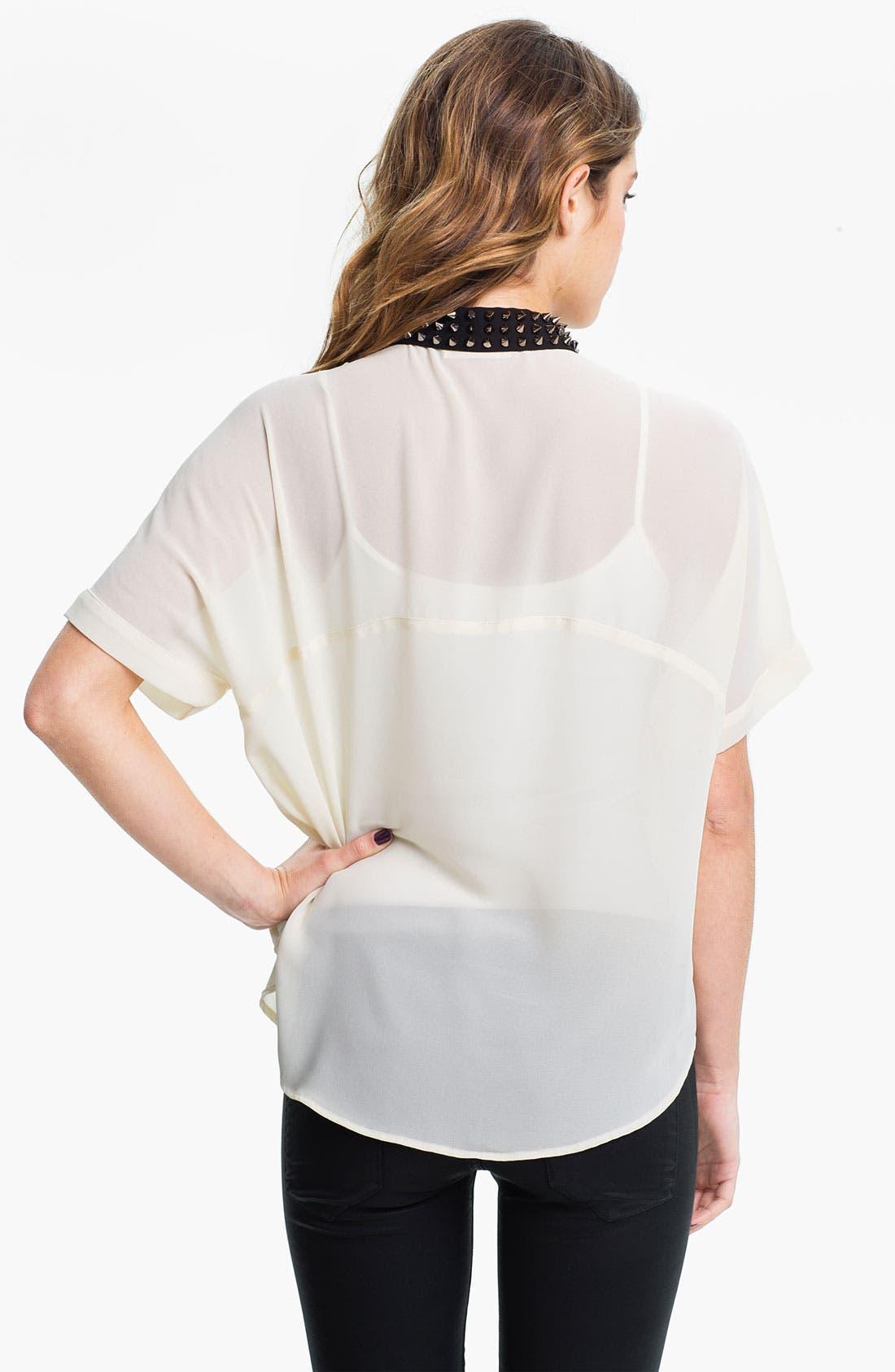 Alternate Image 2  - Elodie Spike Stud Collar Shirt (Juniors)