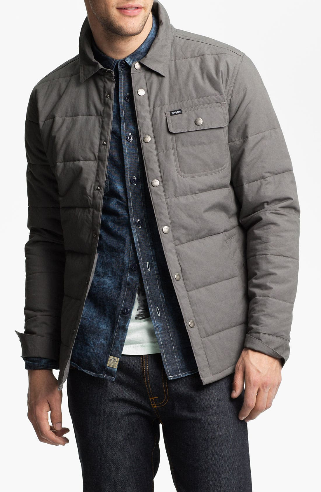 'Cass' Quilted Jacket,                         Main,                         color, Grey