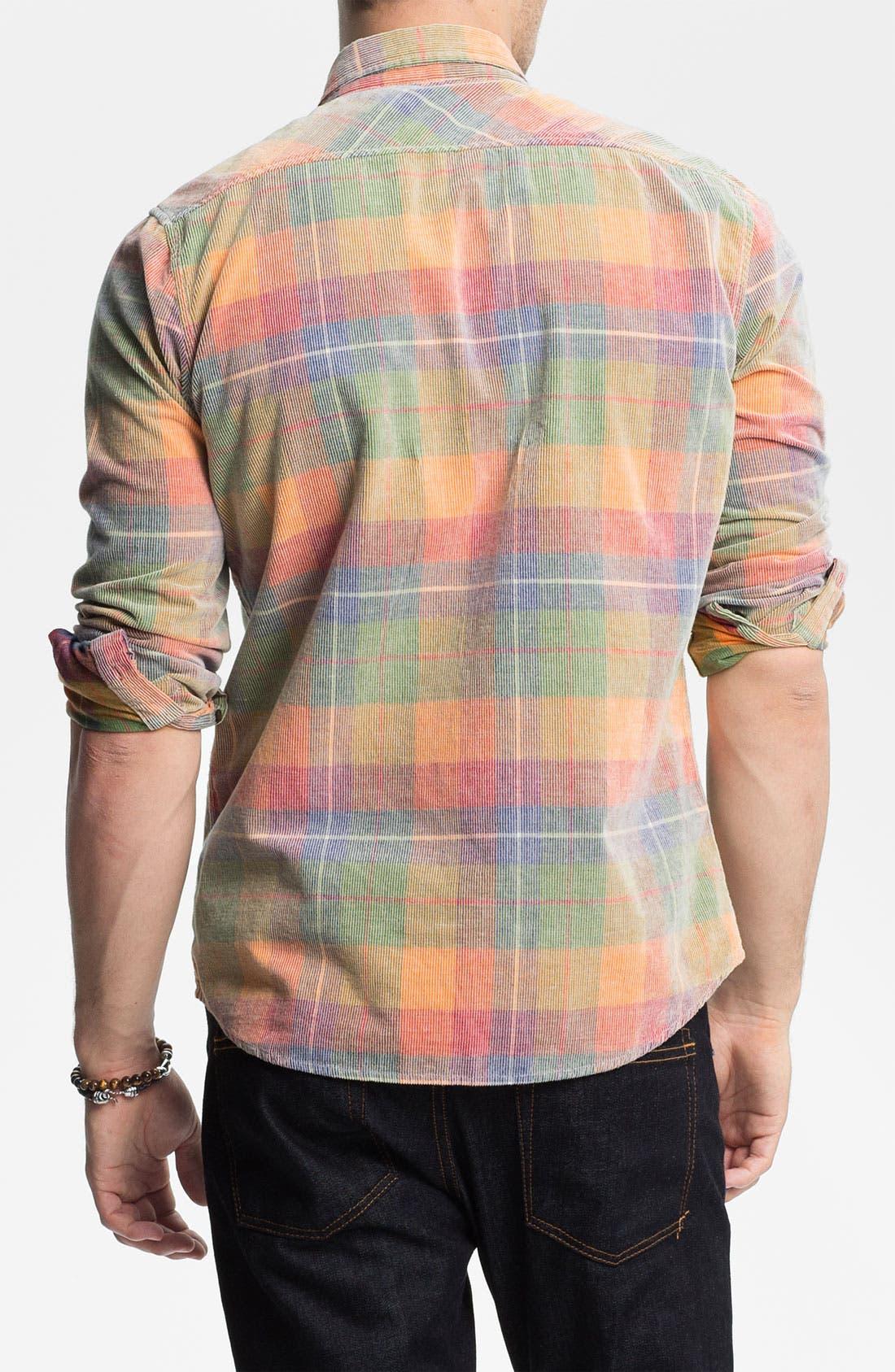 Alternate Image 2  - Zanerobe 'Yellowstone' Plaid Corduroy Shirt
