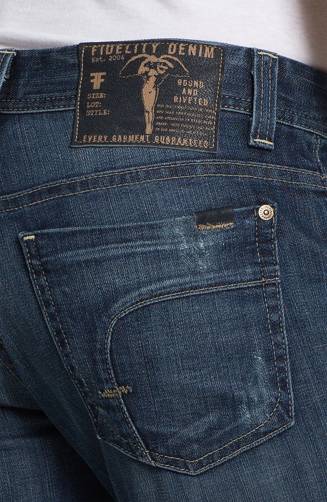 Alternate Image 4  - Fidelity Denim 'Slim Jim' Slim Straight Leg Jeans (Exile Vintage)