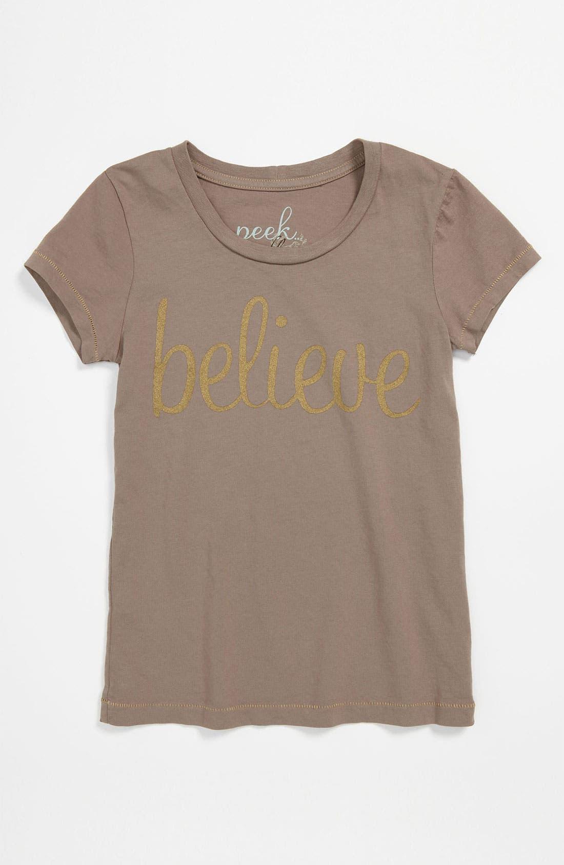 Alternate Image 1 Selected - Peek 'Believe' Tee (Toddler, Little Girls & Big Girls)