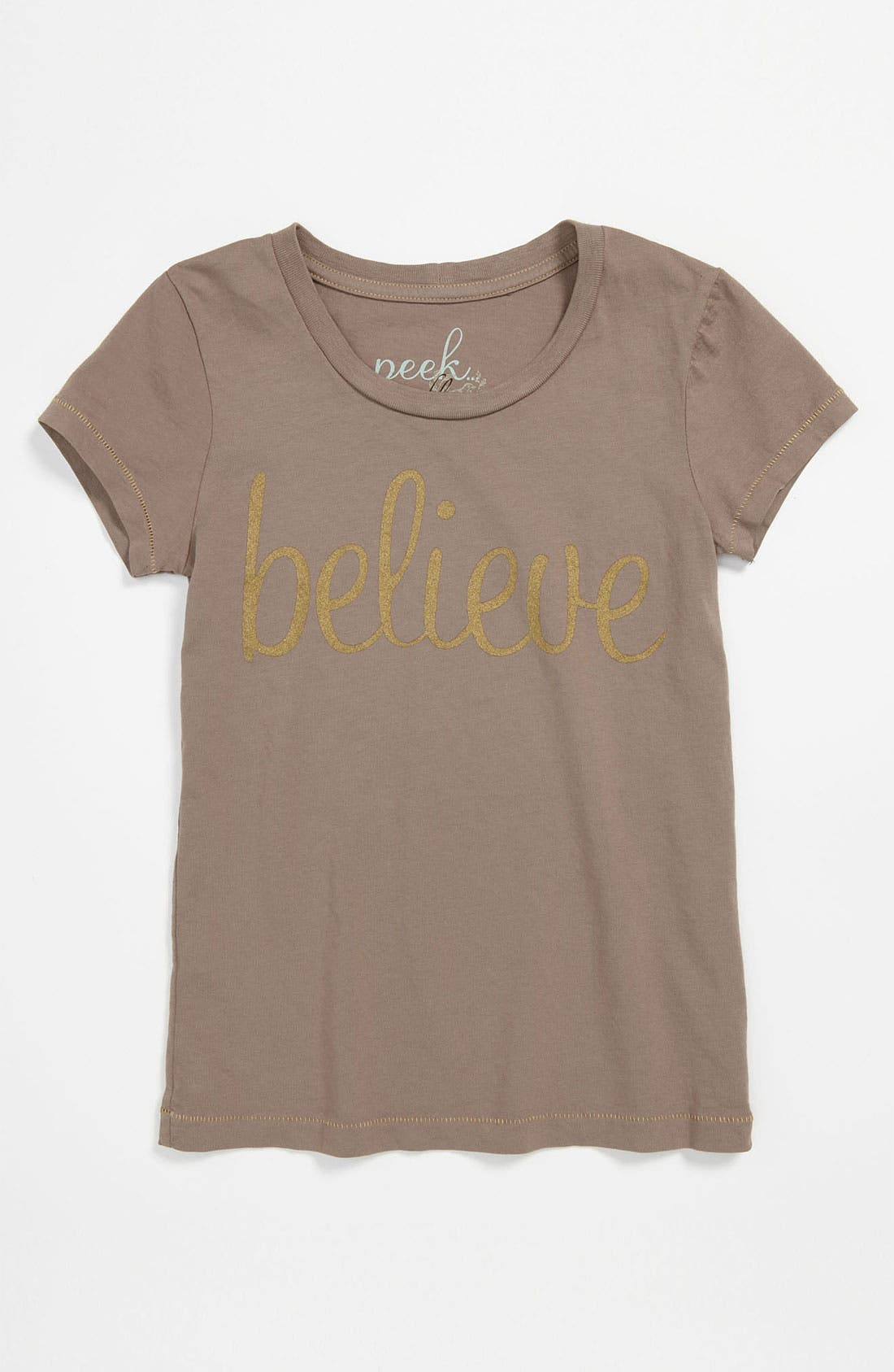 Main Image - Peek 'Believe' Tee (Toddler, Little Girls & Big Girls)