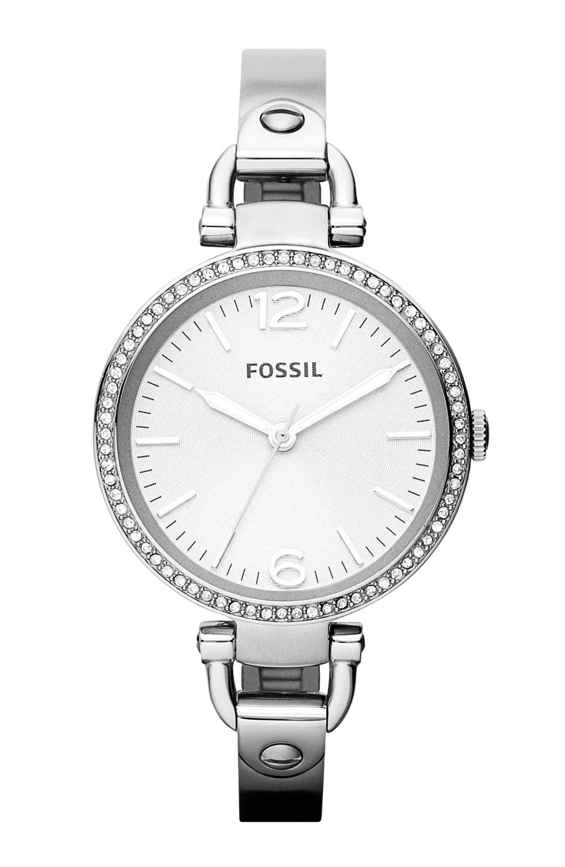 Alternate Image 1 Selected - Fossil 'Georgia' Crystal Bezel Watch, 32mm