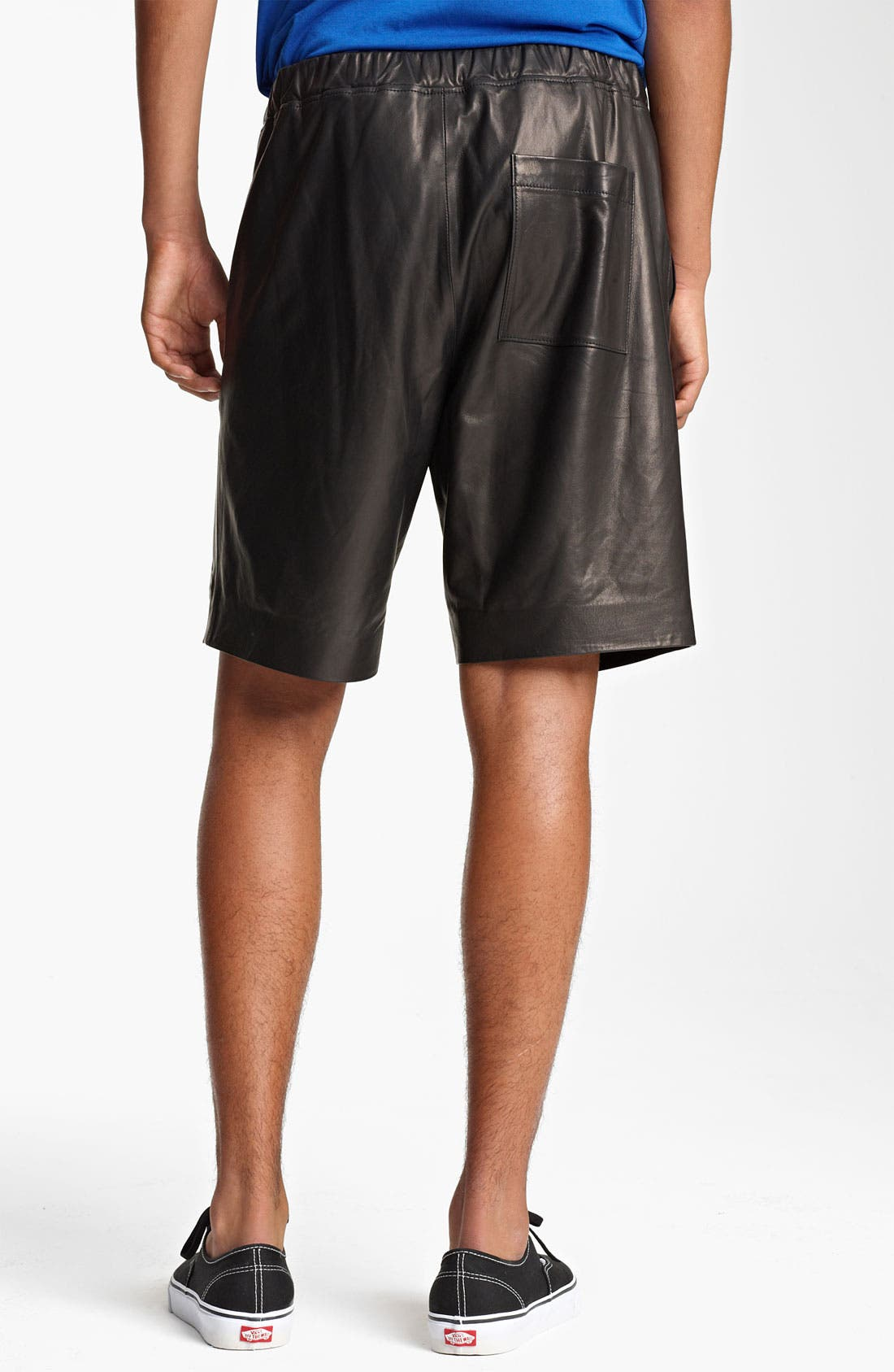 Alternate Image 2  - T by Alexander Wang Leather Shorts