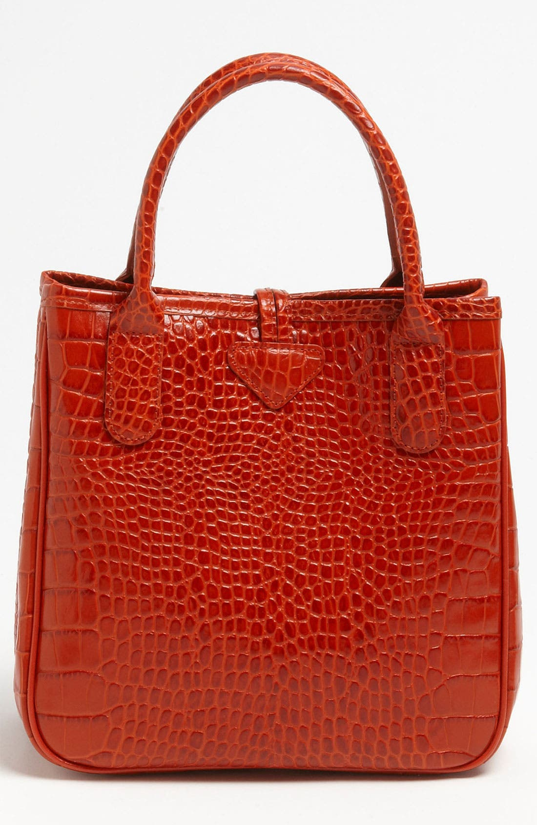 Alternate Image 4  - Longchamp 'Roseau' Croc Embossed Tote