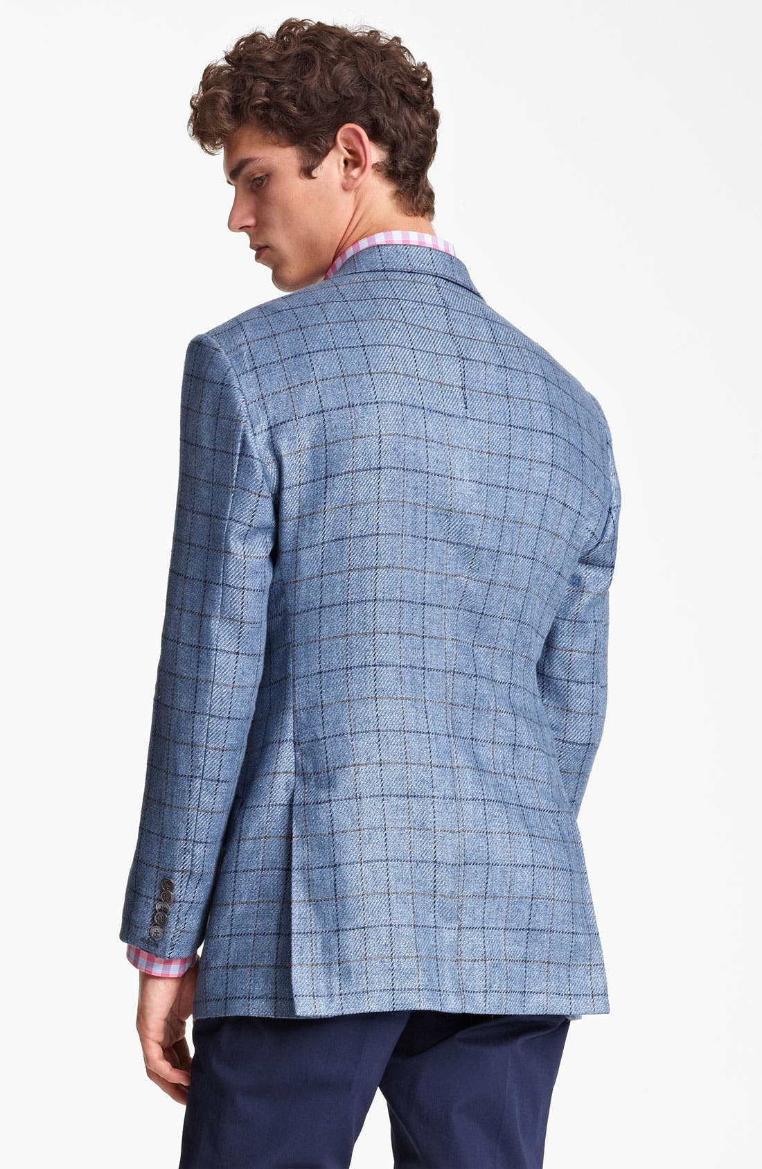 Alternate Image 2  - Paul Smith London Linen Cotton Plaid Sportcoat