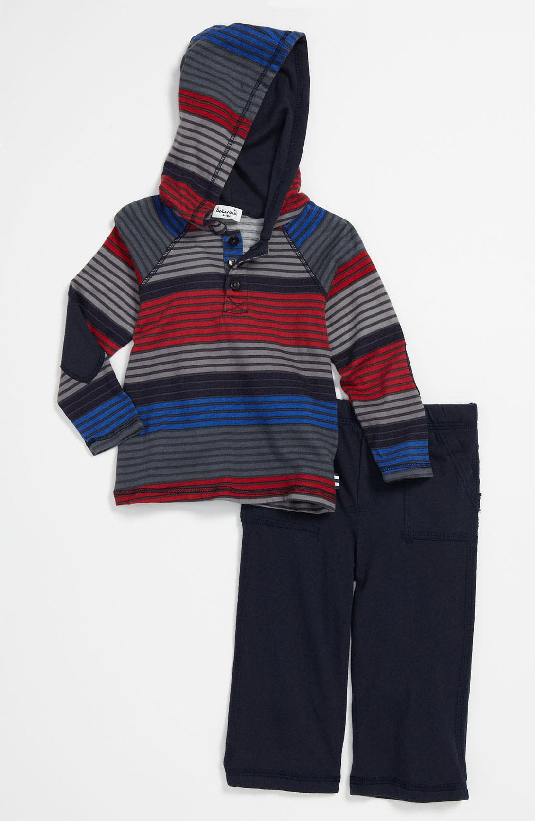 Alternate Image 1 Selected - Splendid 'Camden' Stripe Hoodie & Pants (Infant)
