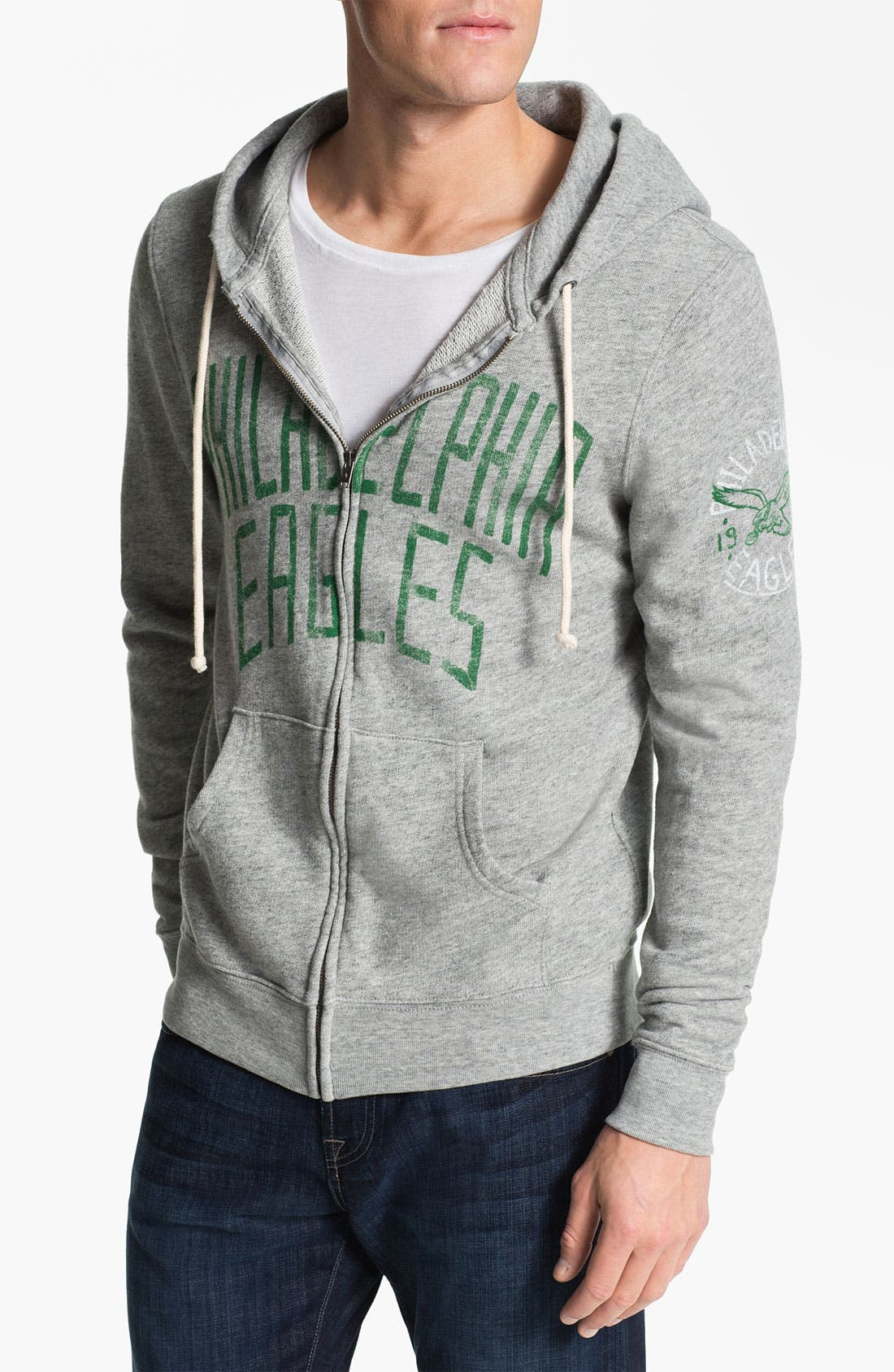 Alternate Image 1 Selected - Junk Food 'Philadelphia Eagles' Zip Hoodie