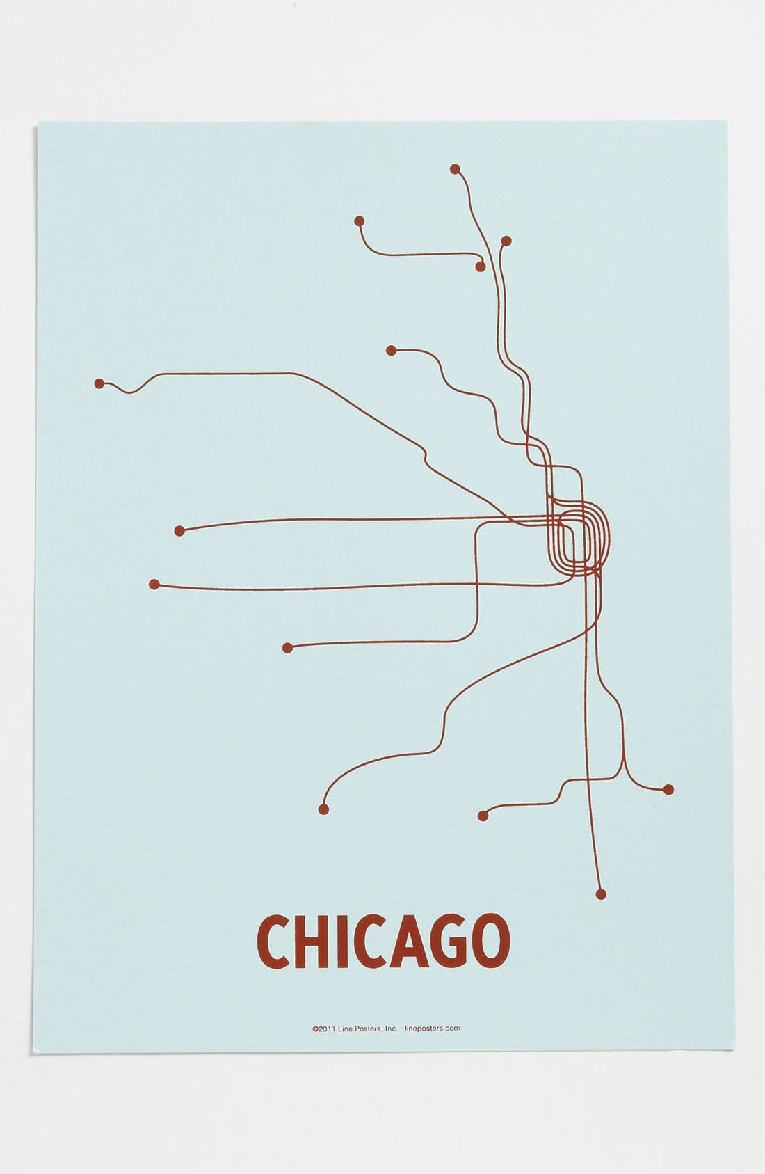 Main Image - Line Posters 'Chicago Transit System - Small' Print
