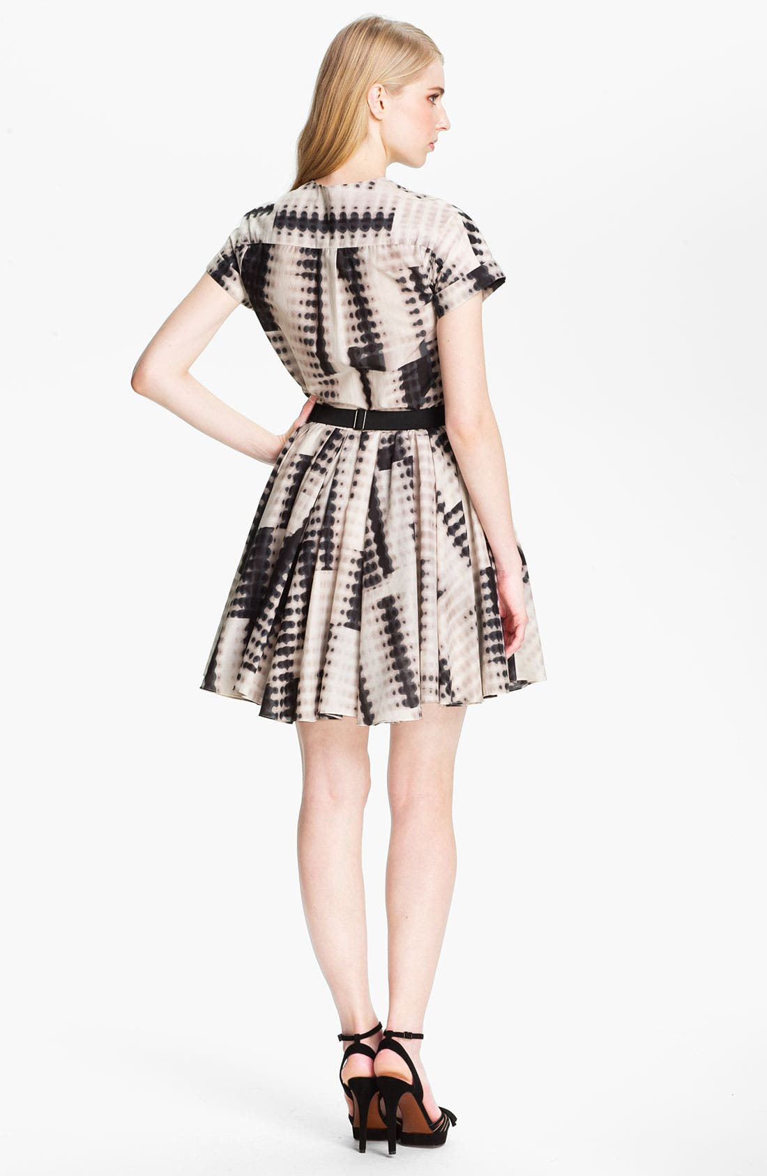 Alternate Image 2  - Halston Heritage Belted Abstract Print Dress