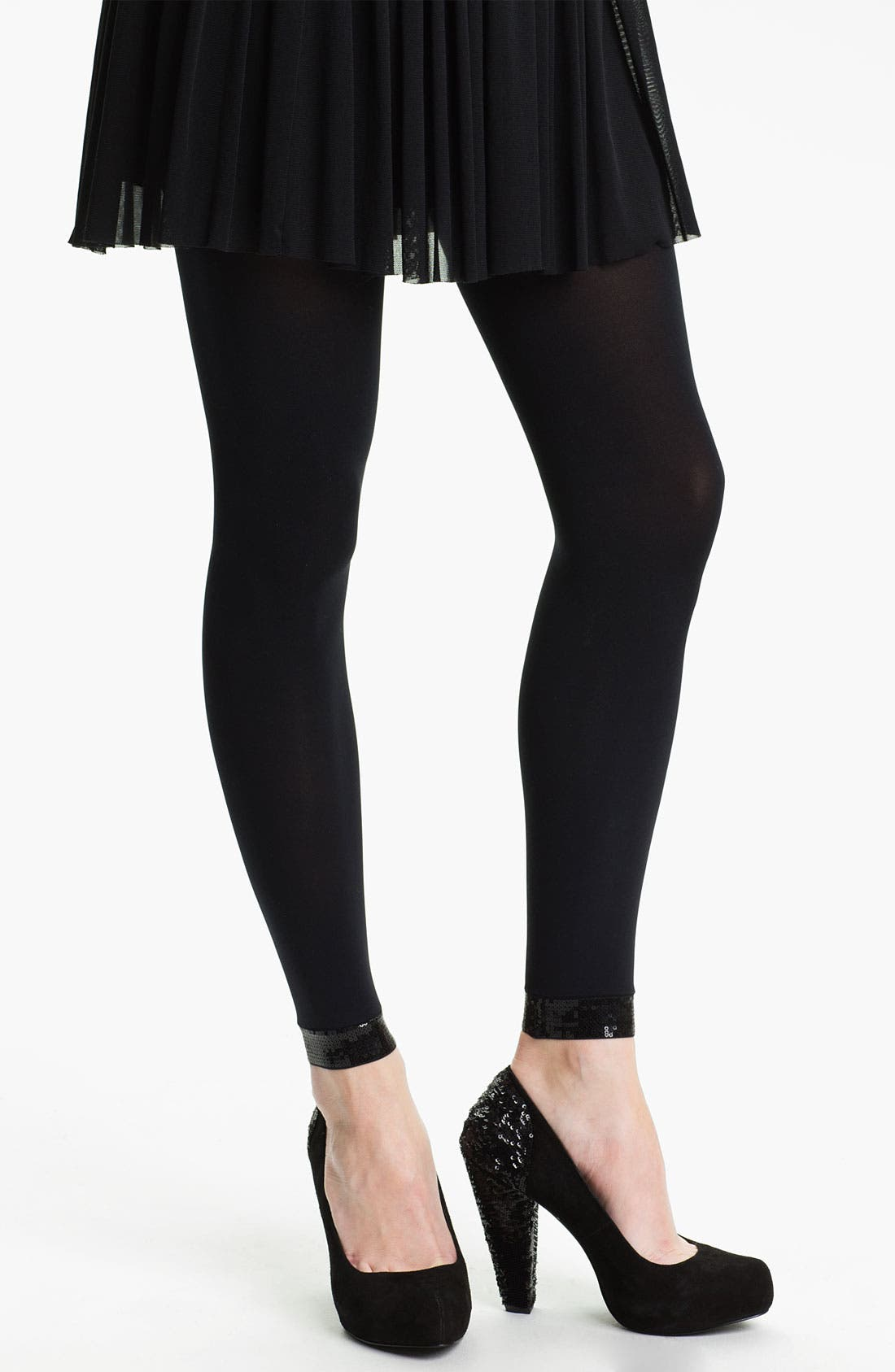 Alternate Image 1 Selected - DKNY Sequined Footless Tights