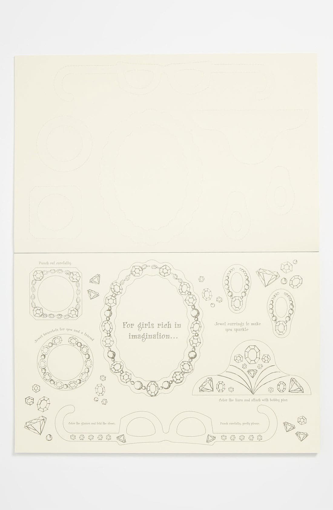 Alternate Image 2  - Kitchen Papers by Cake 'Princess' Kids Paper Placemat Pad