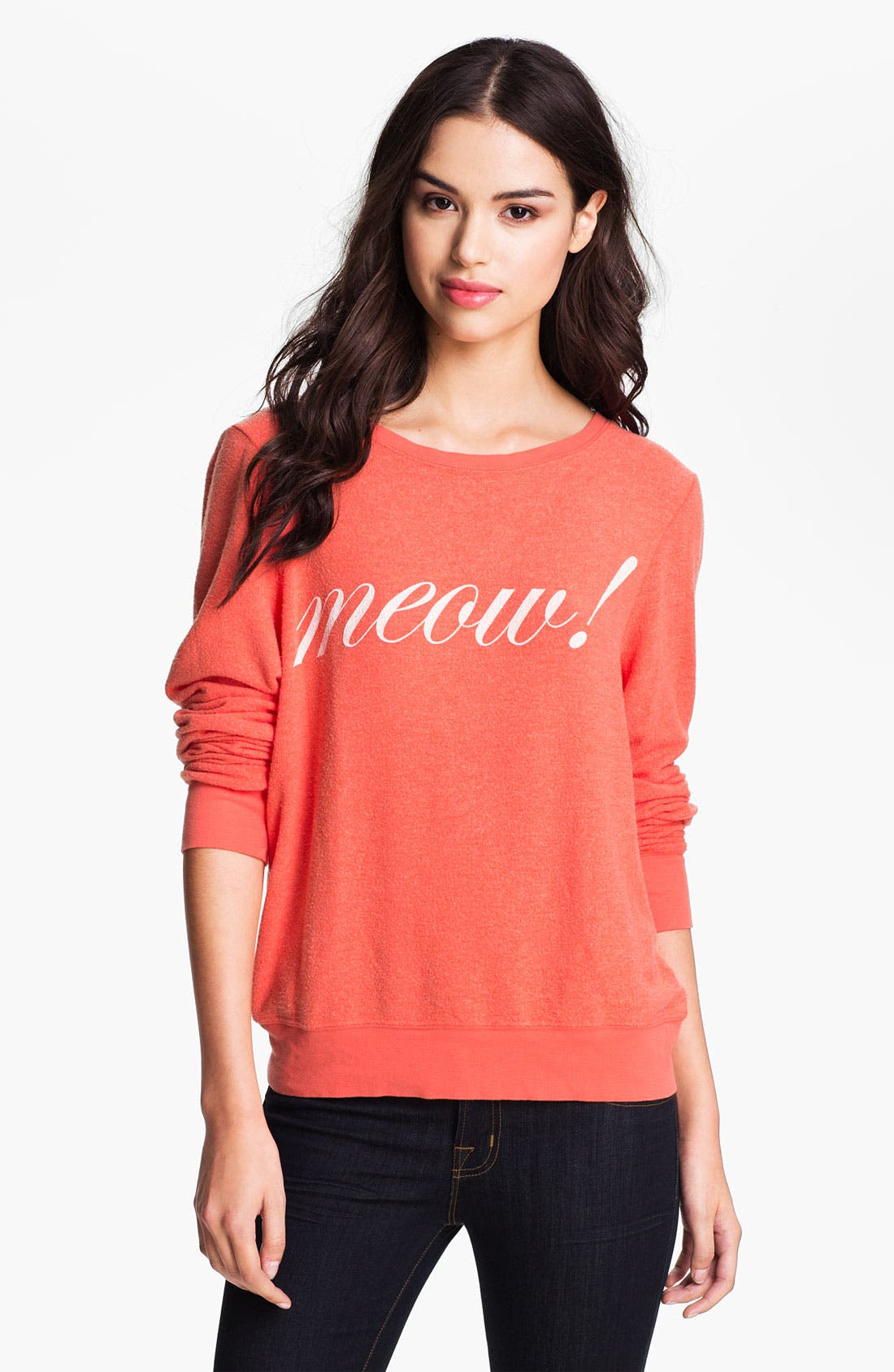 Alternate Image 1 Selected - Wildfox 'Meow!' Graphic Sweatshirt