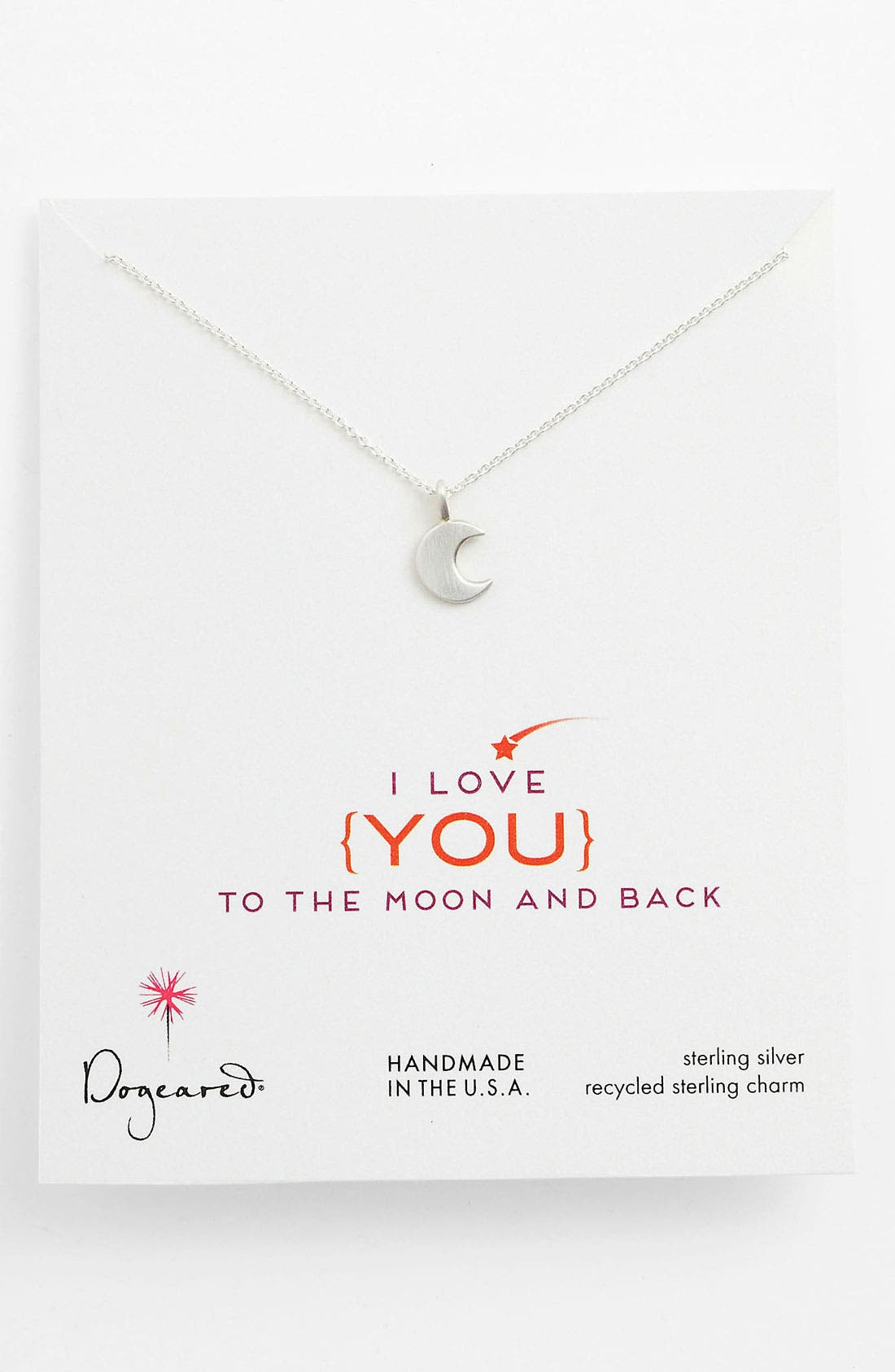 Alternate Image 1 Selected - Dogeared 'Love - To the Moon & Back' Pendant Necklace