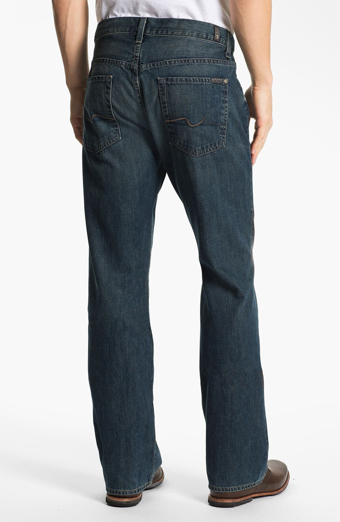 Alternate Image 1 Selected - 7 For All Mankind® 'Brett' Bootcut Jeans (Baring Bay) (Online Exclusive)