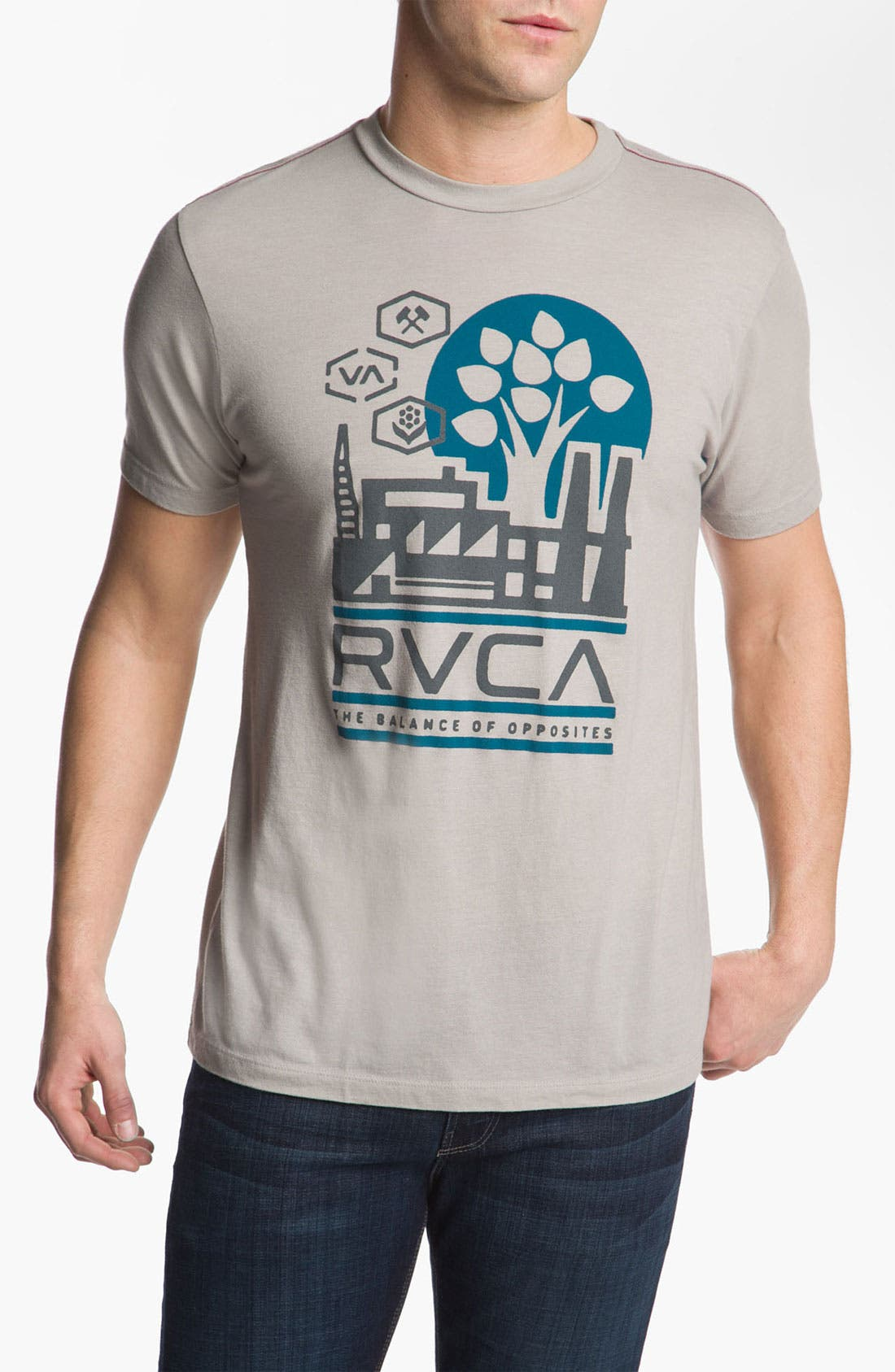 Alternate Image 1 Selected - RVCA 'Construct' Vintage Wash T-Shirt