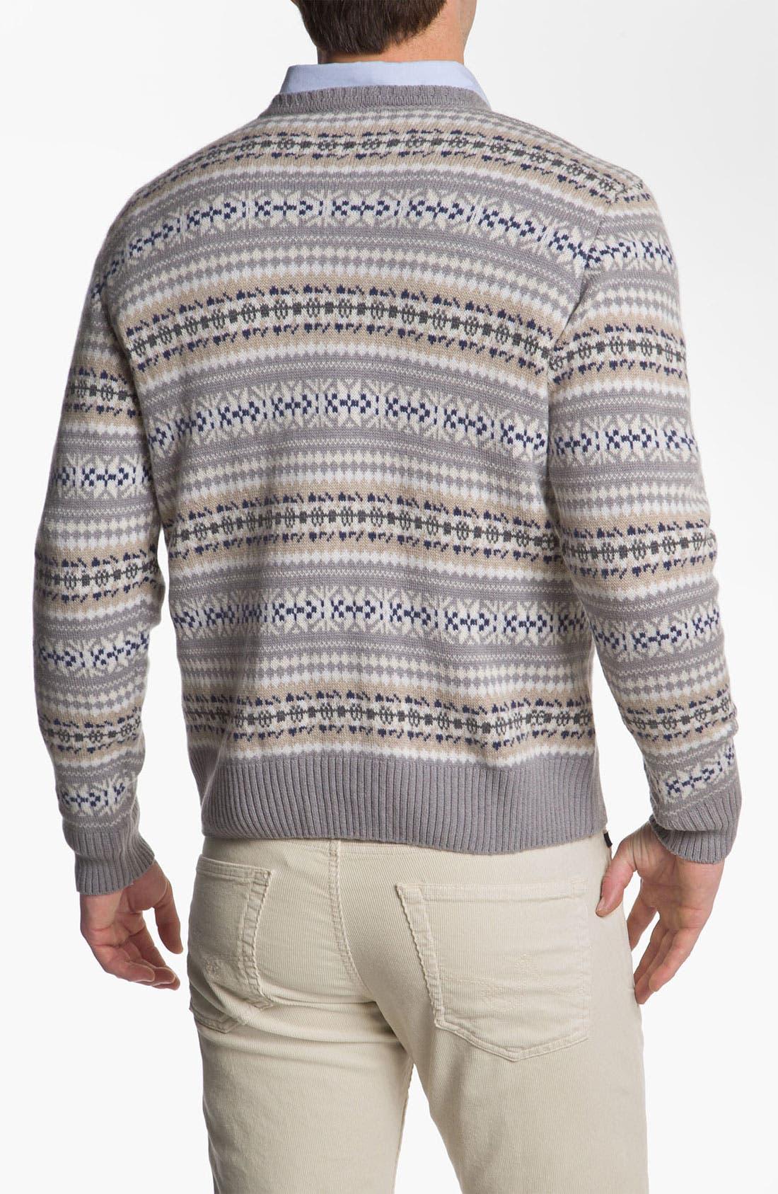 Alternate Image 2  - Fausto Reali Vannucci V-Neck Merino Wool & Cashmere Sweater