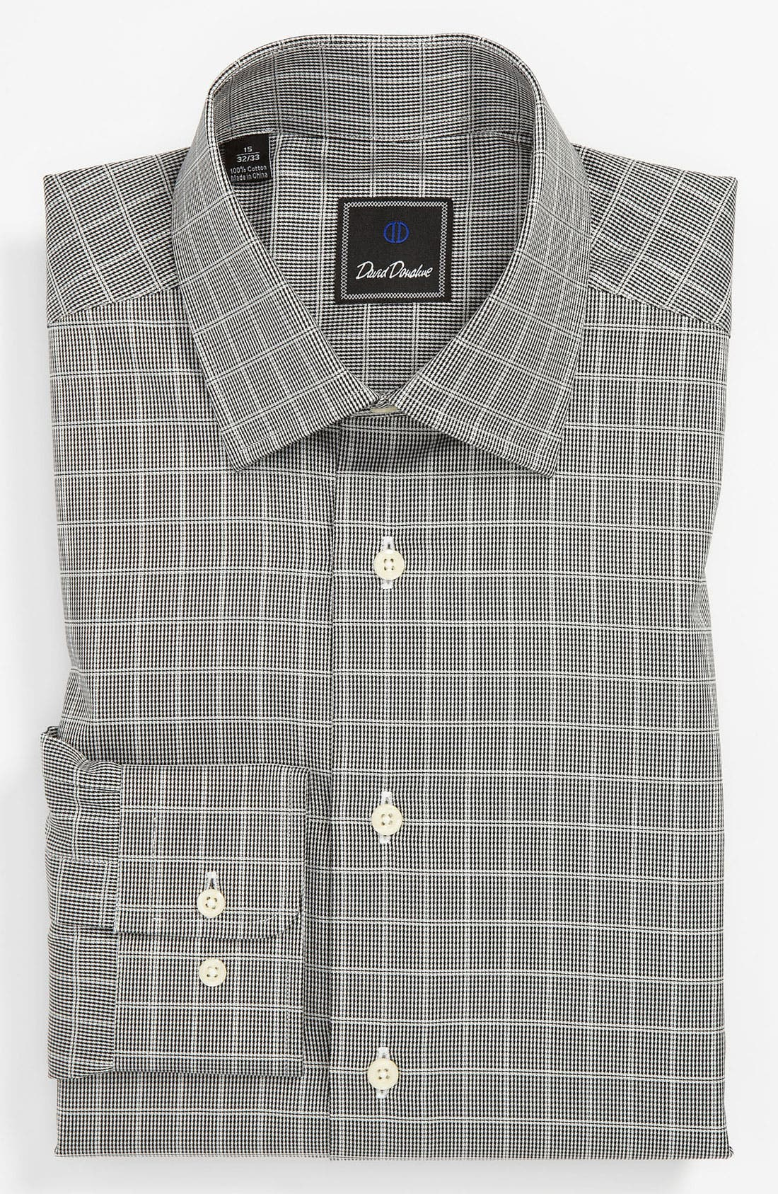 Main Image - David Donahue Regular Fit Dress Shirt (Online Exclusive)
