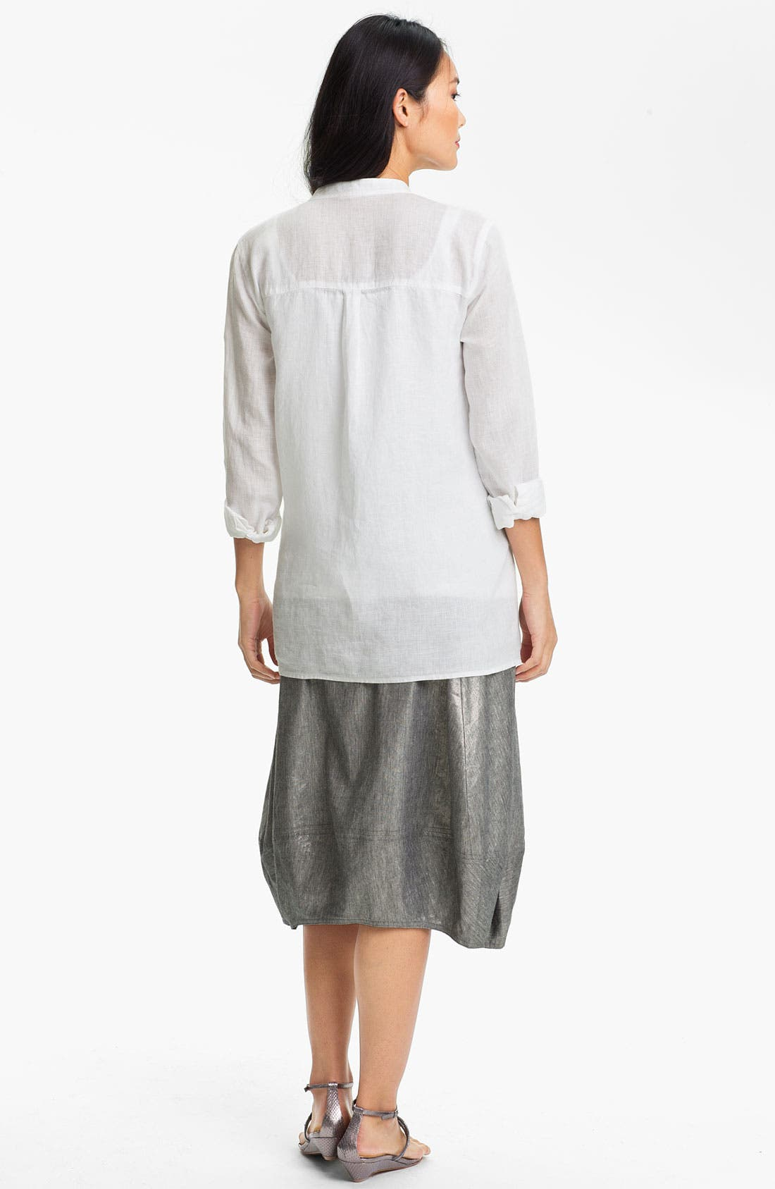 Alternate Image 6  - Eileen Fisher Stretch Linen Blend Lantern Skirt