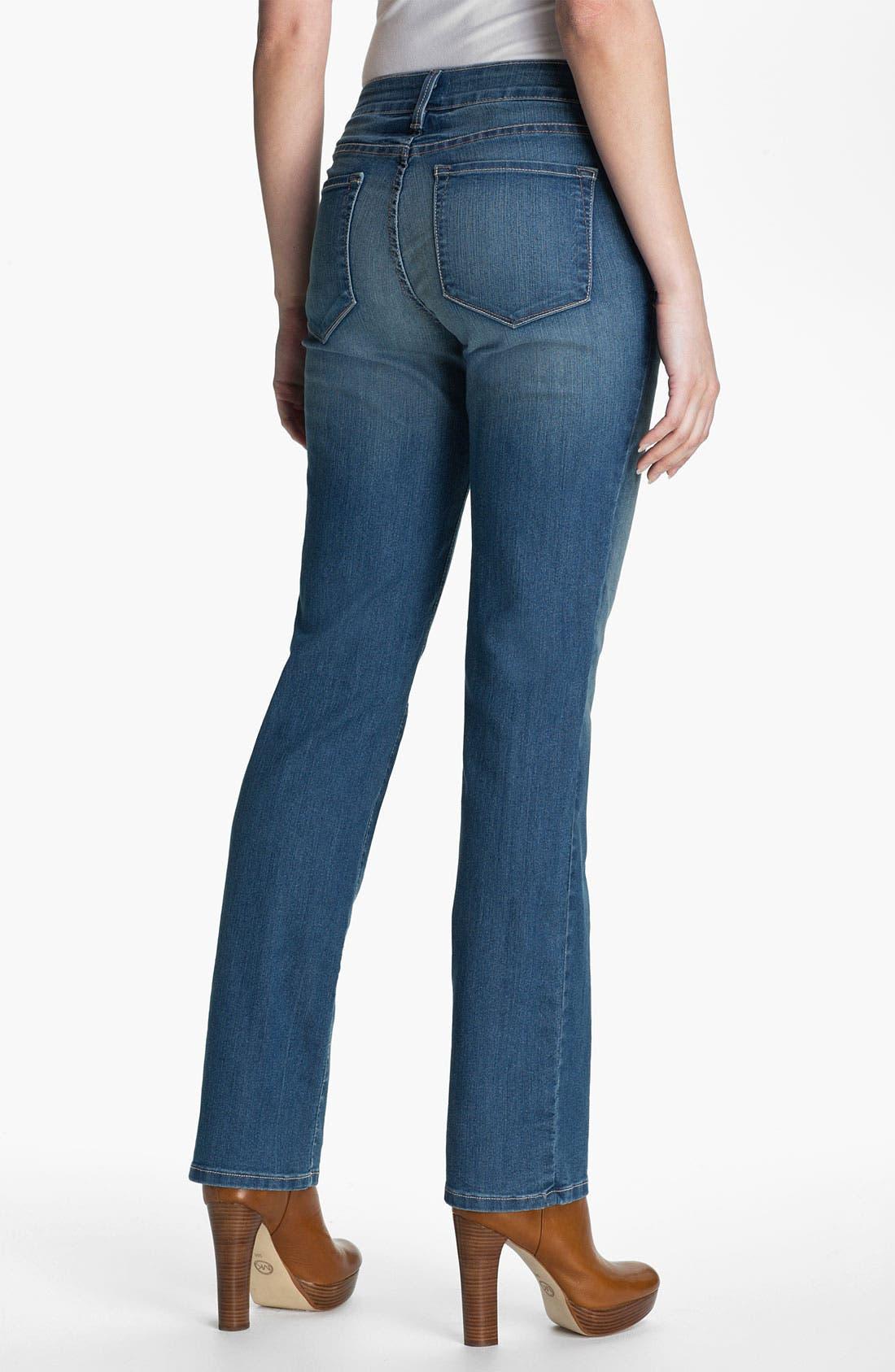 Alternate Image 2  - NYDJ 'Marilyn' Stretch Straight Leg Jeans (Miami)