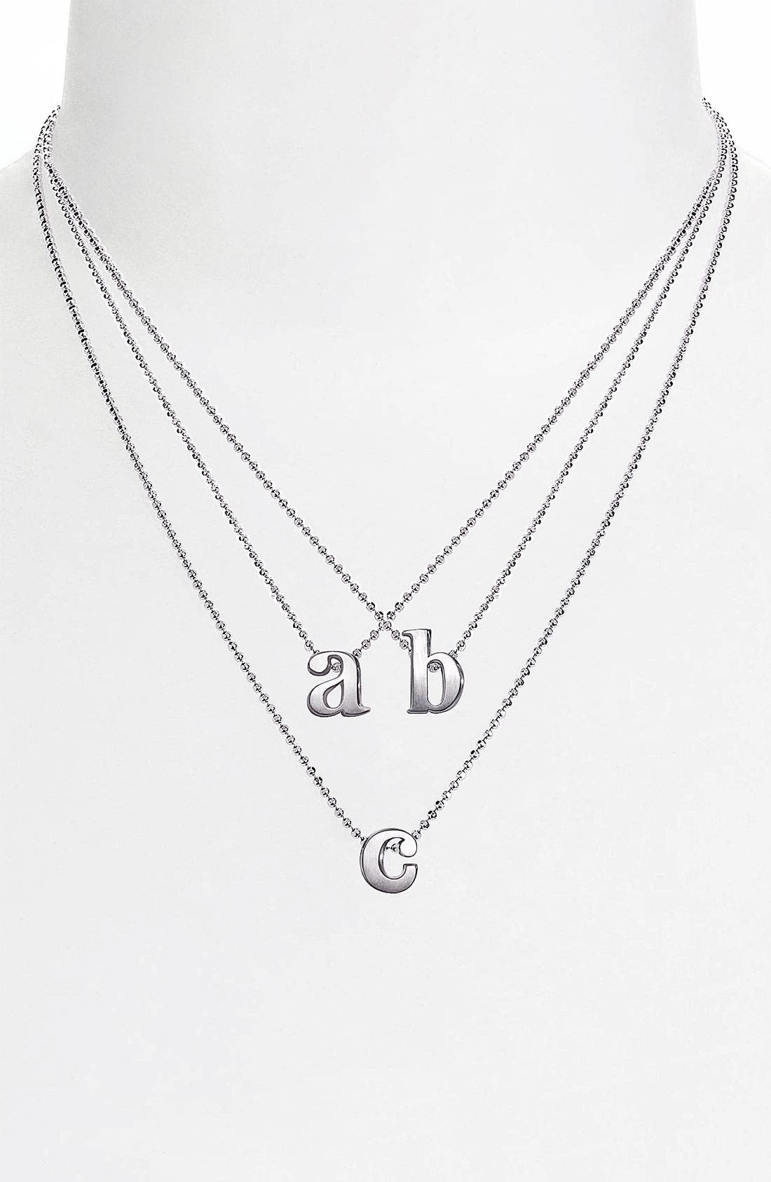 Alternate Image 1 Selected - Alex Woo 'Little Letters' Pendant Necklace