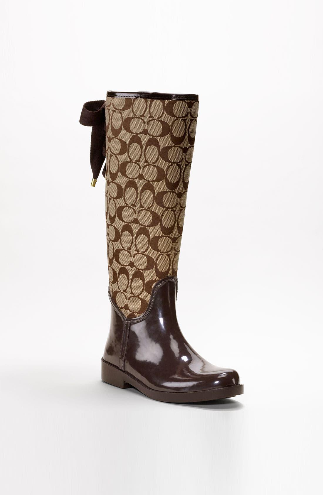 Alternate Image 1 Selected - COACH 'Tristee' Waterproof Rain Boot
