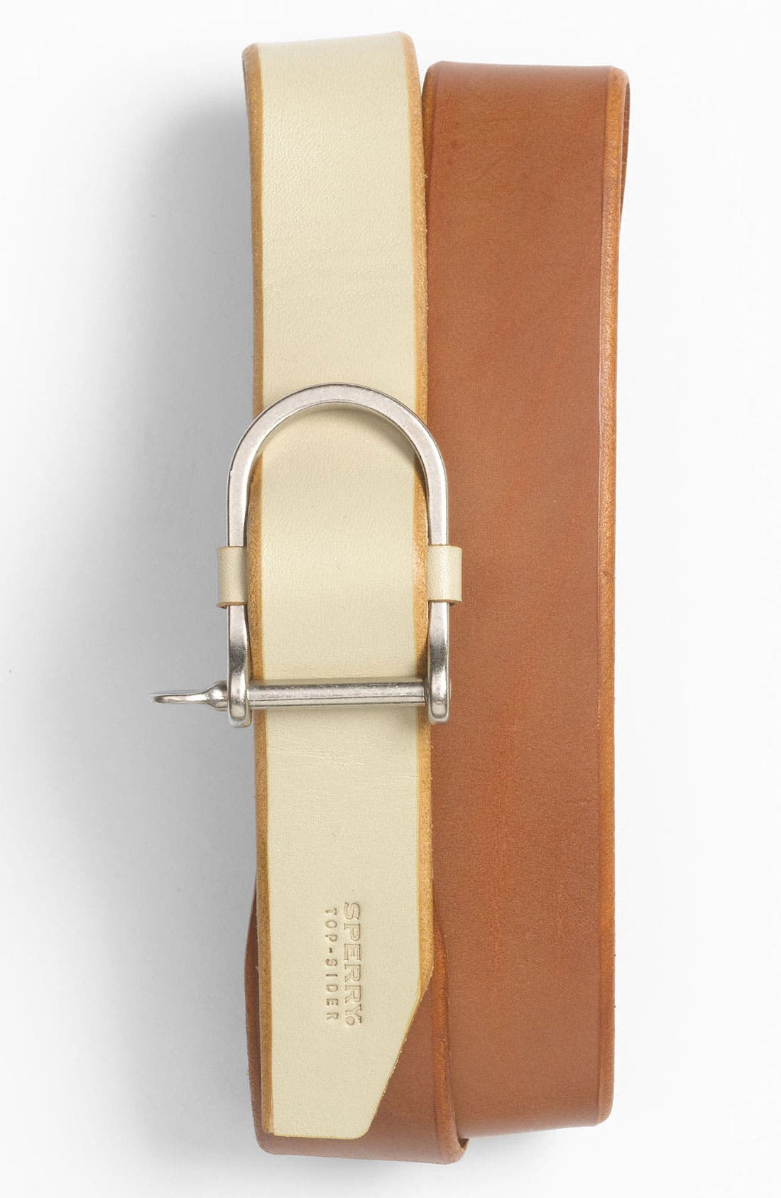 Alternate Image 1 Selected - Sperry Top-Sider® 'Cut Edge' Leather Belt