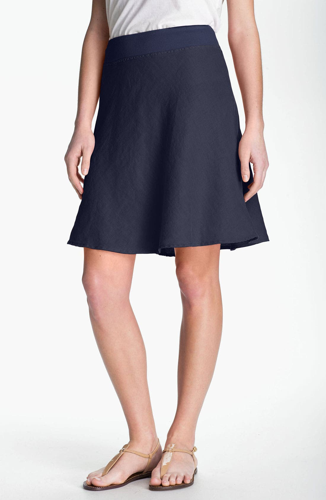 Main Image - Allen Allen A-Line Linen Skirt