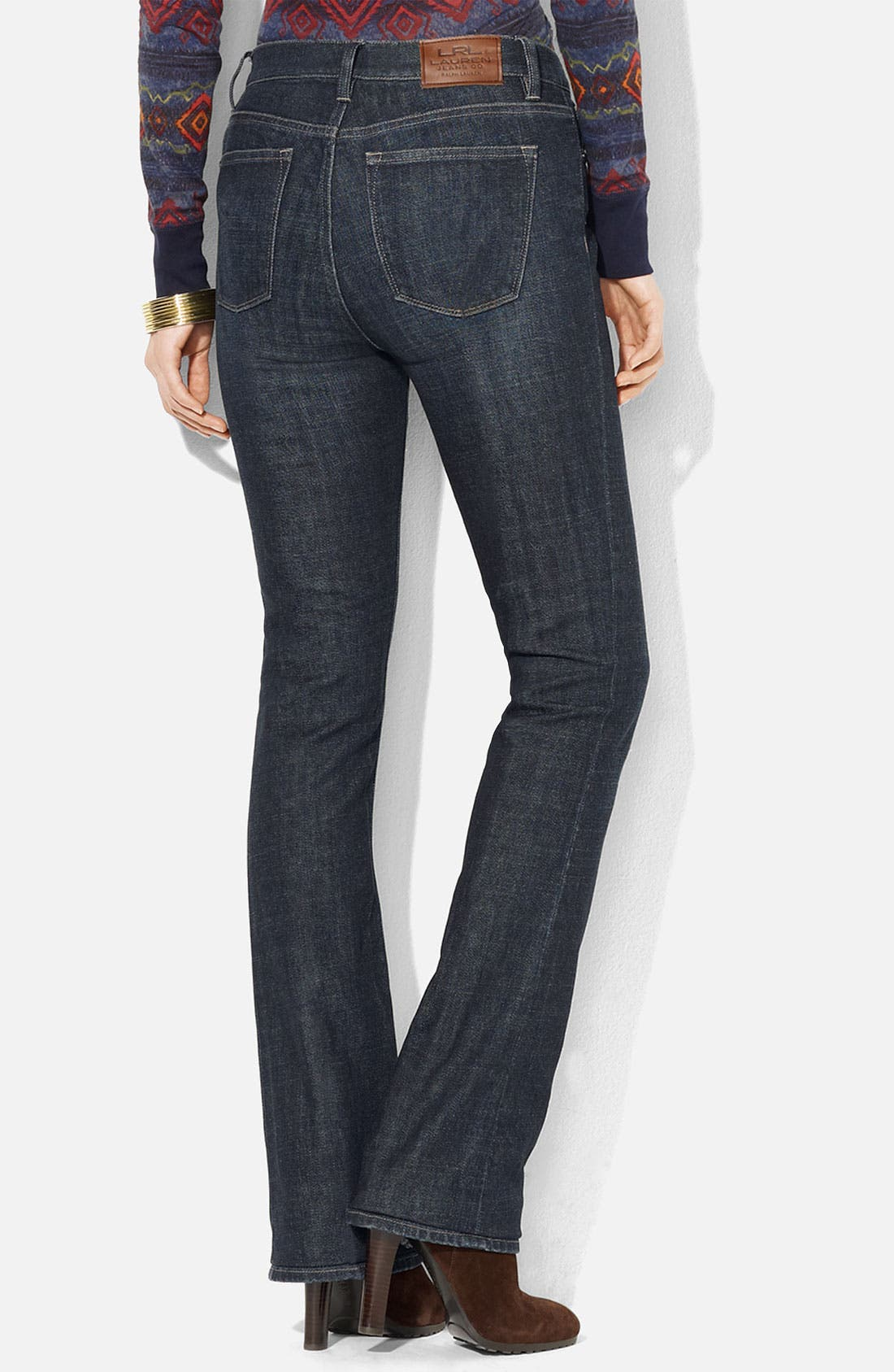 Alternate Image 2  - Lauren Ralph Lauren Slimming Bootcut Jeans (Petite) (Online Exclusive)