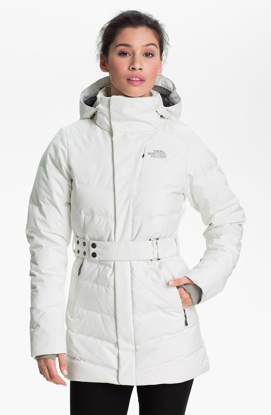 Alternate Image 1 Selected - The North Face 'Greta' Belted Down Jacket