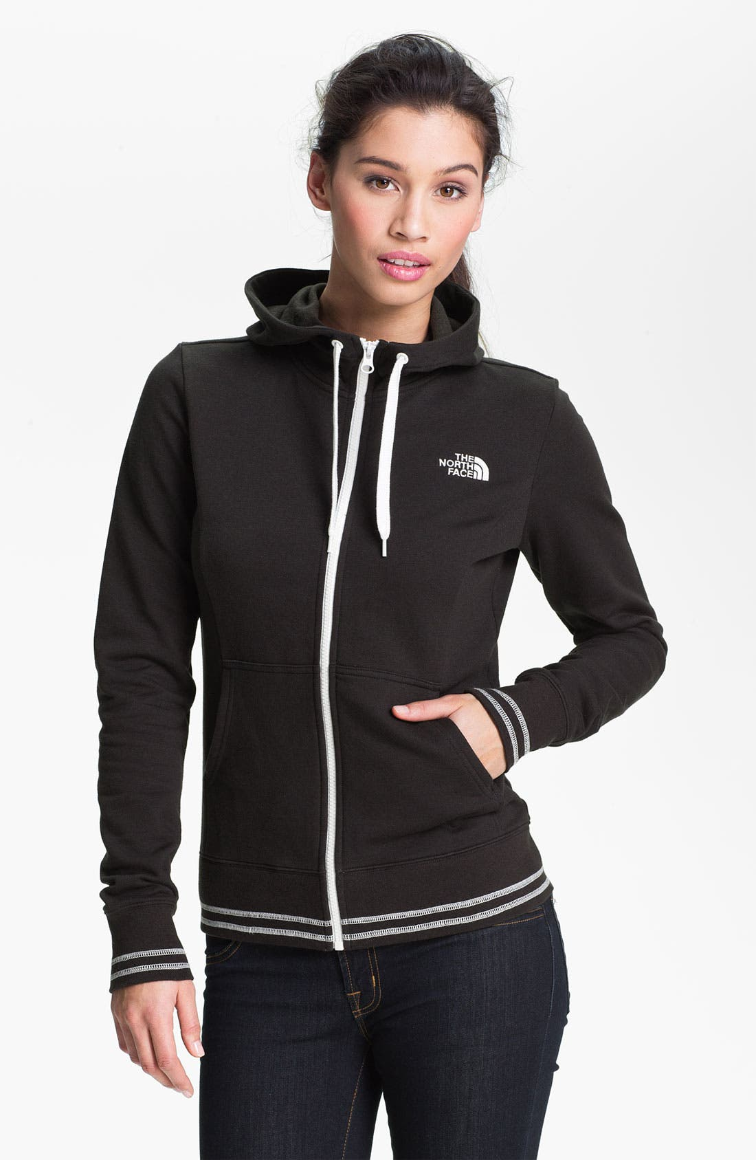 Alternate Image 1 Selected - The North Face Full Zip Logo Hoodie