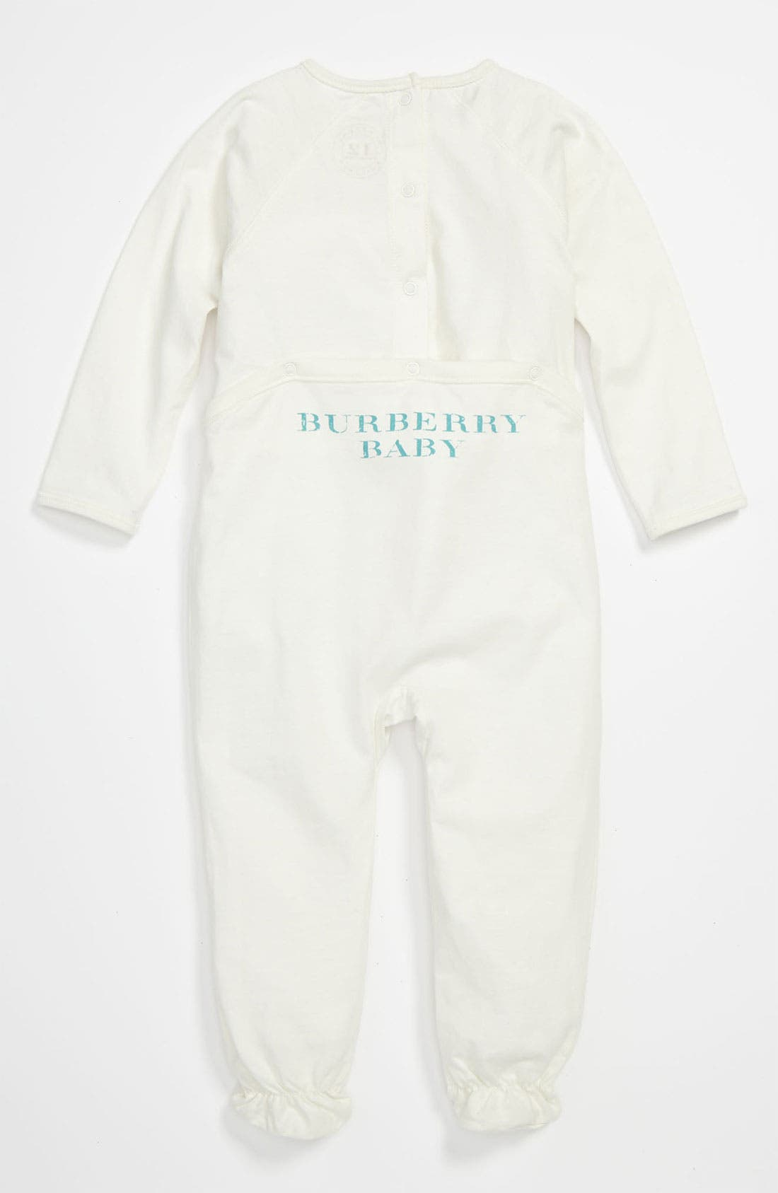 Alternate Image 2  - Burberry 'Peaches' Footie (Baby)