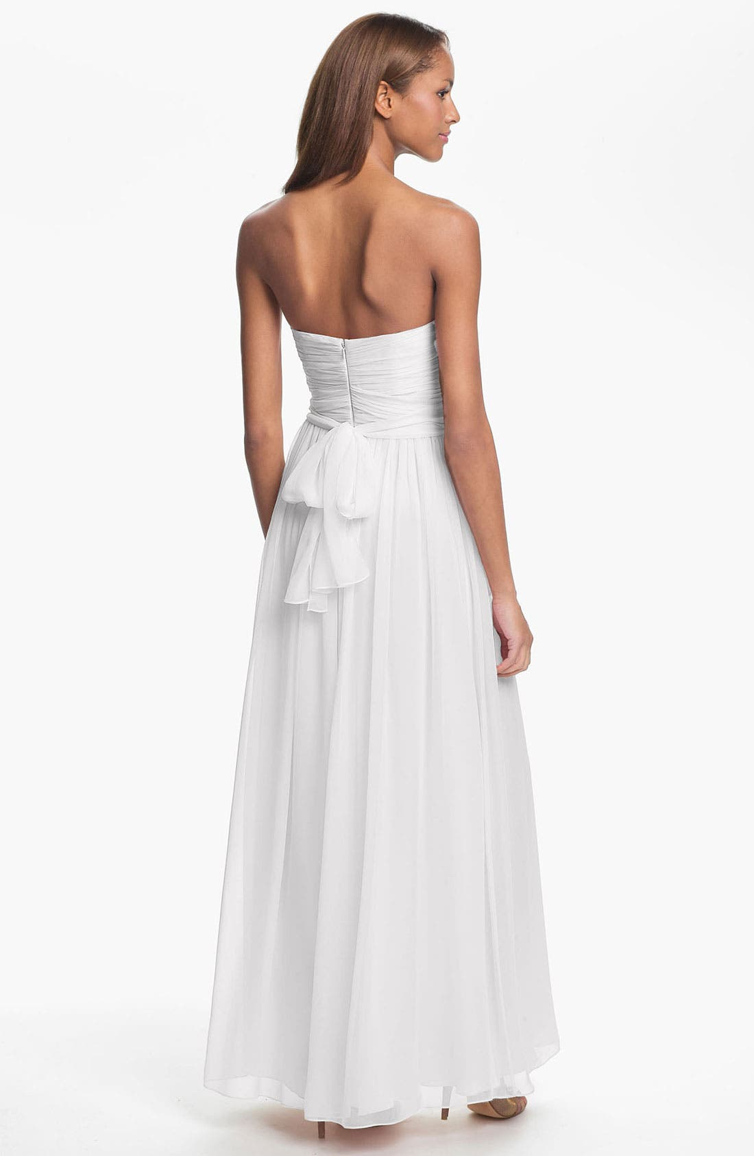 Alternate Image 2  - Jill Jill Stuart Strapless Ruched Chiffon Sweetheart Gown