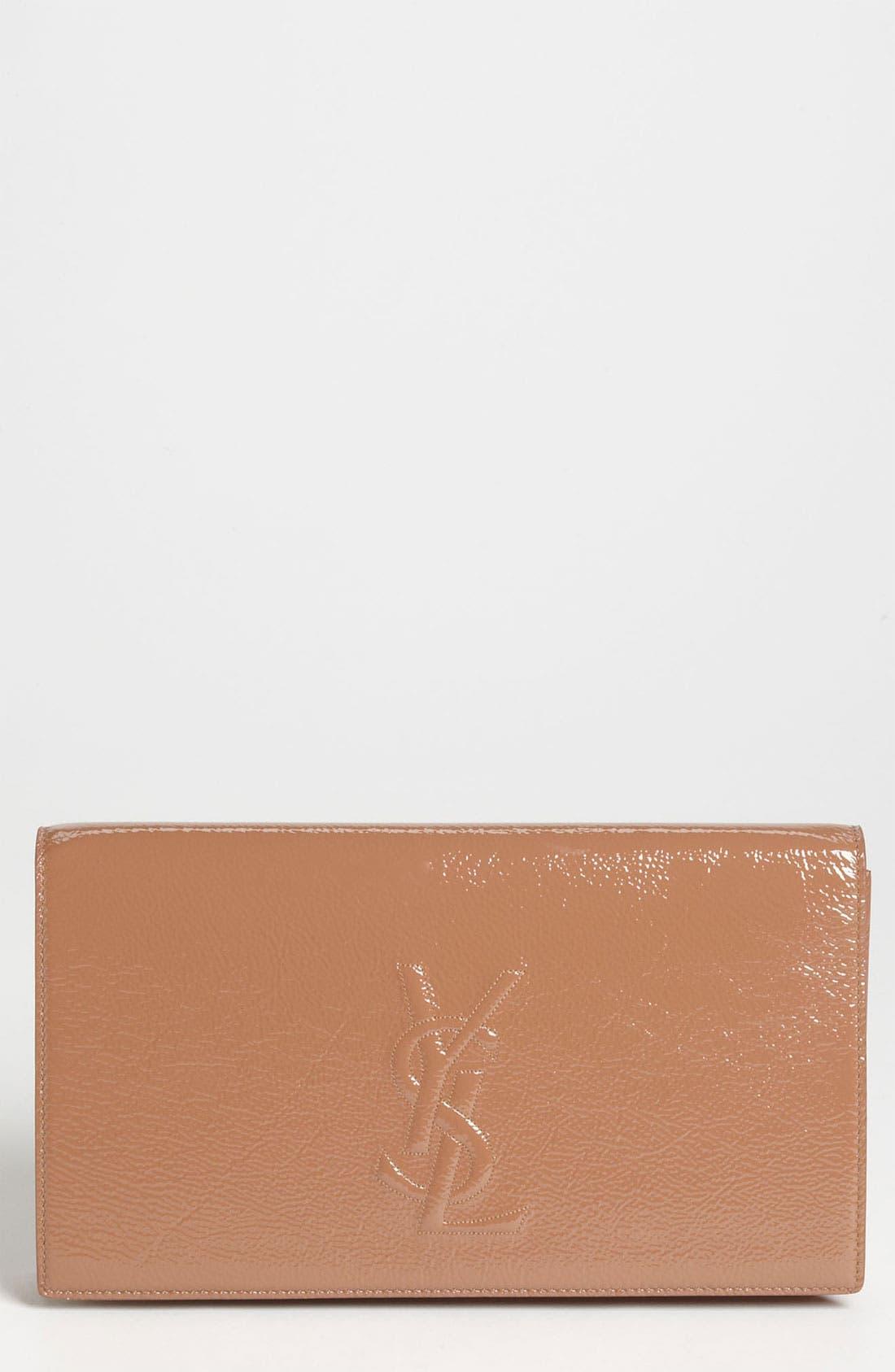 Alternate Image 1 Selected - Saint Laurent 'Belle de Jour' Patent Leather Clutch
