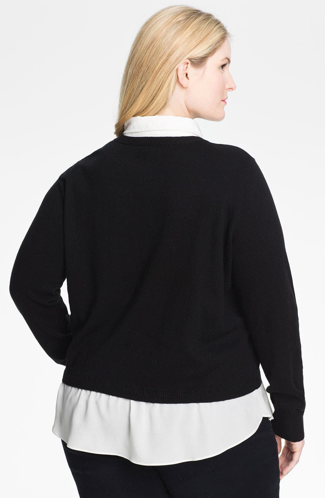 Alternate Image 2  - DKNYC Layered Look Sweater (Plus)