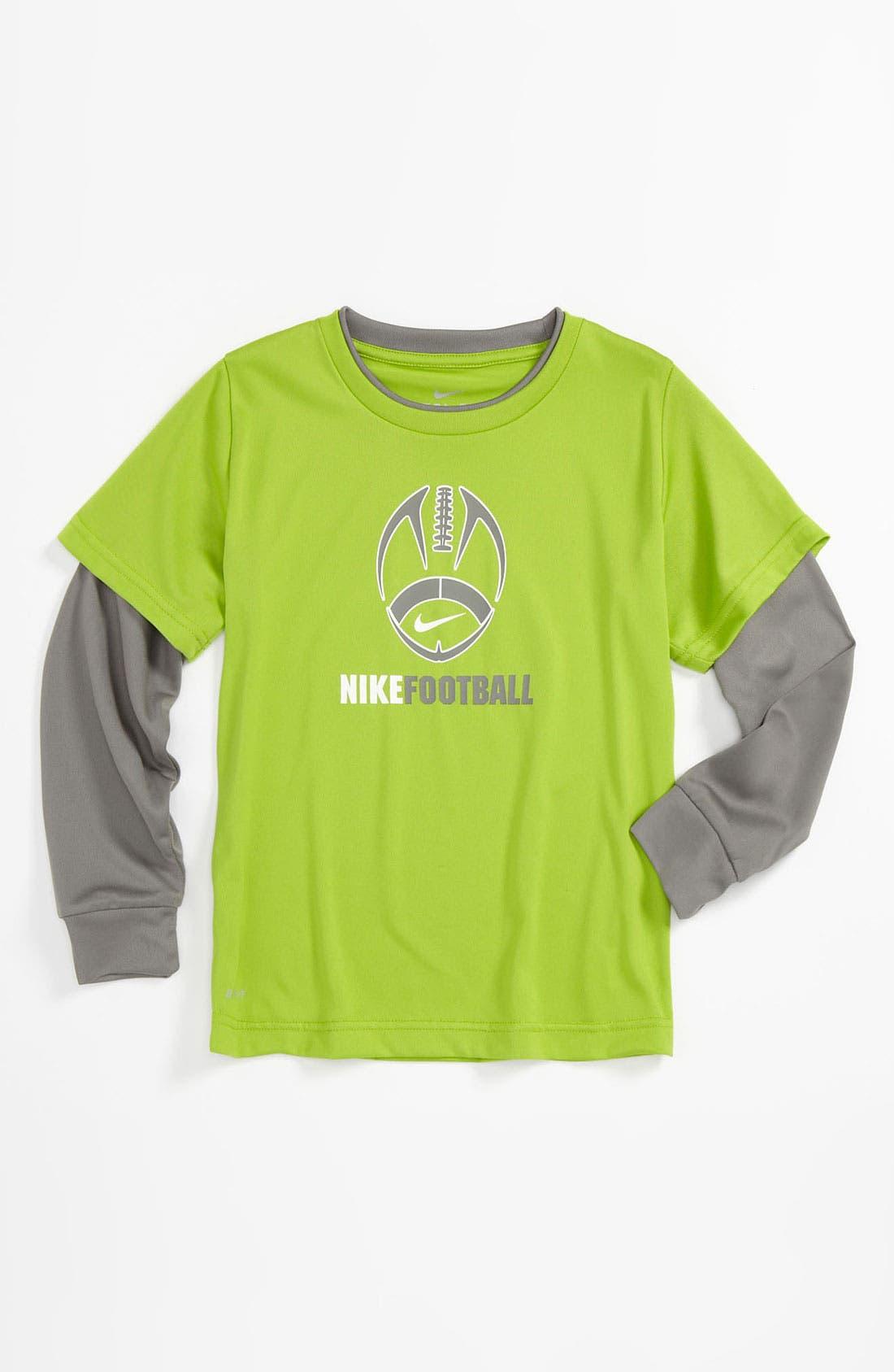 Layered Sleeve Shirt,                             Main thumbnail 1, color,                             Emerald Green