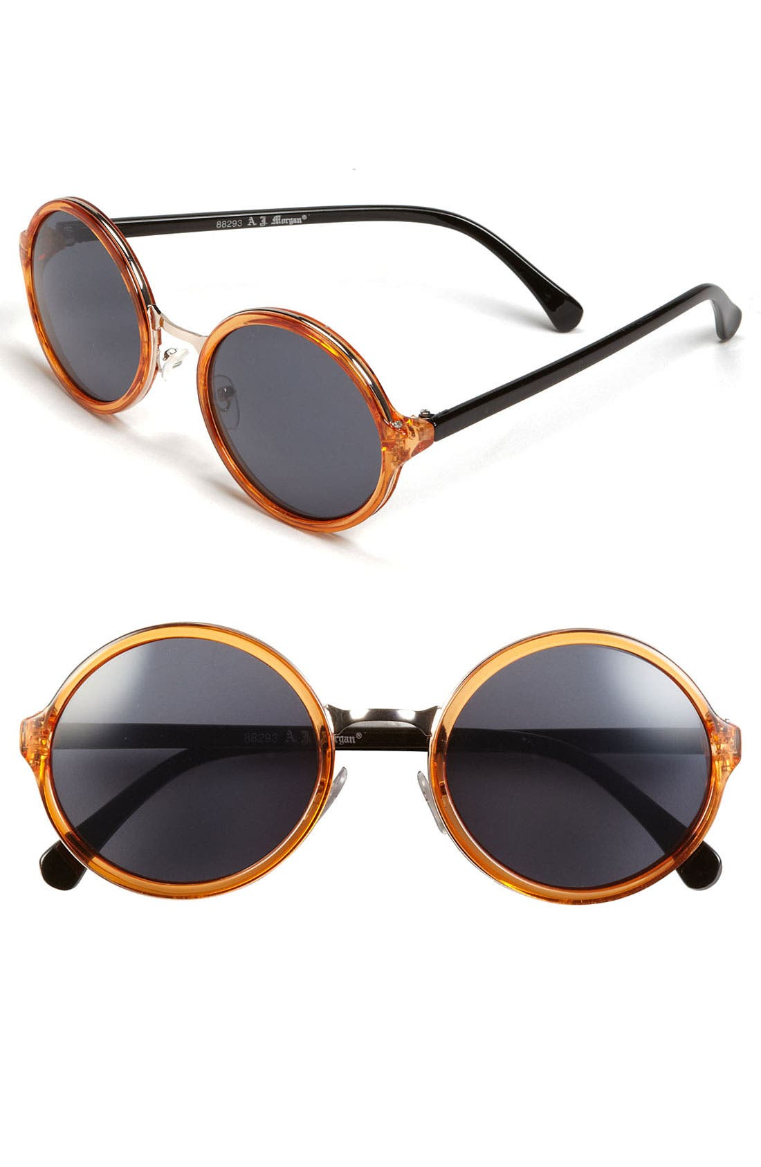 Main Image - A.J. Morgan 52mm Retro Round Sunglasses