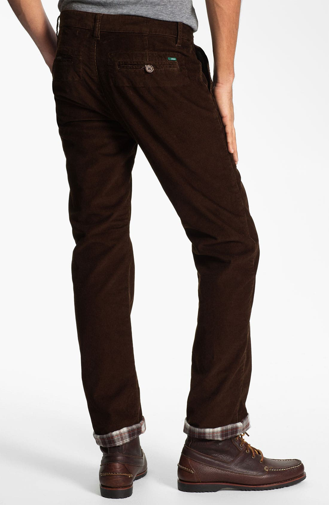 Alternate Image 2  - Toddland Flannel Lined Slim Straight Leg Corduroy Pants