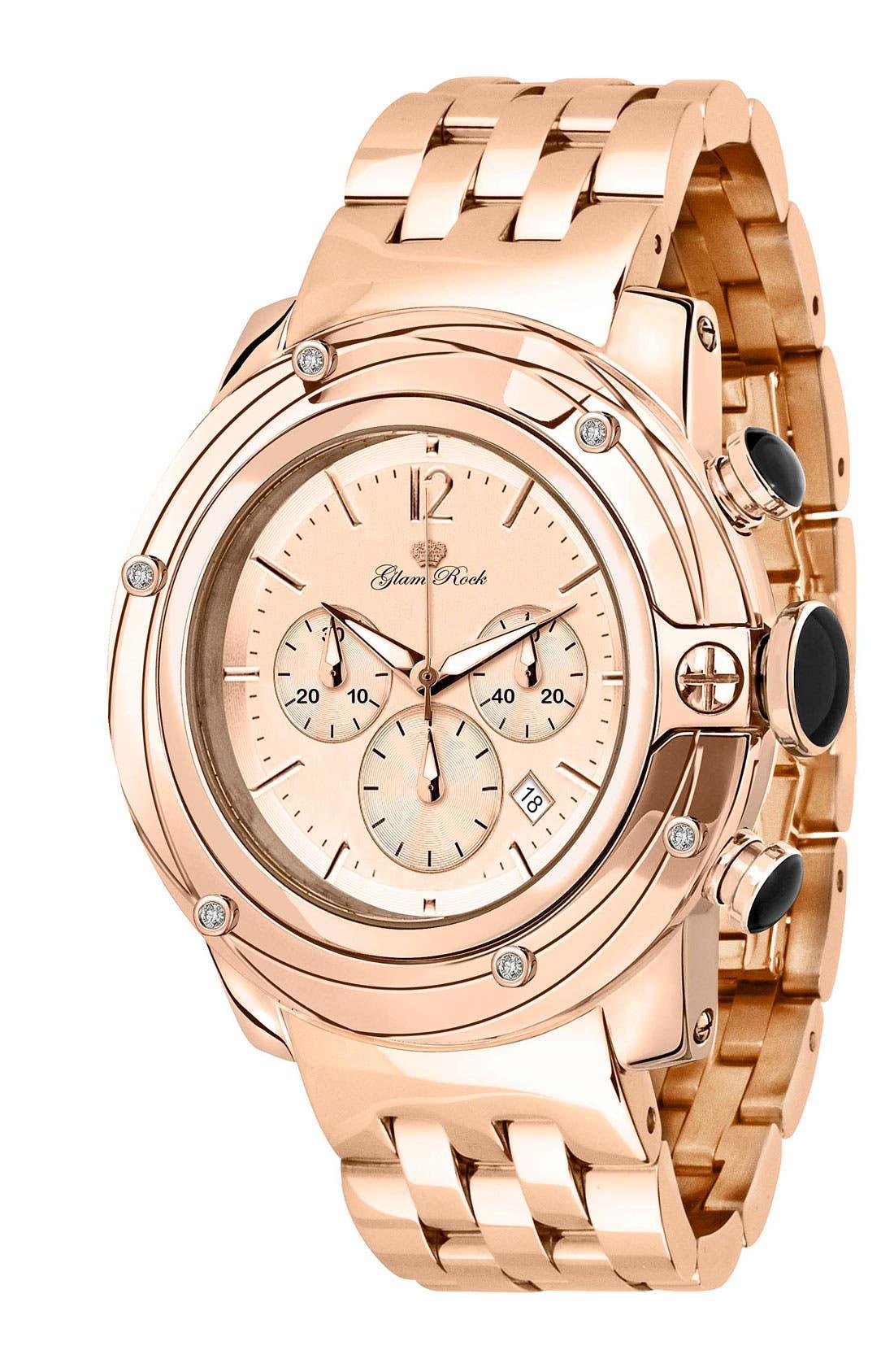 Alternate Image 1 Selected - Glam Rock 'So Be - Lady' Diamond Accent Bracelet Watch