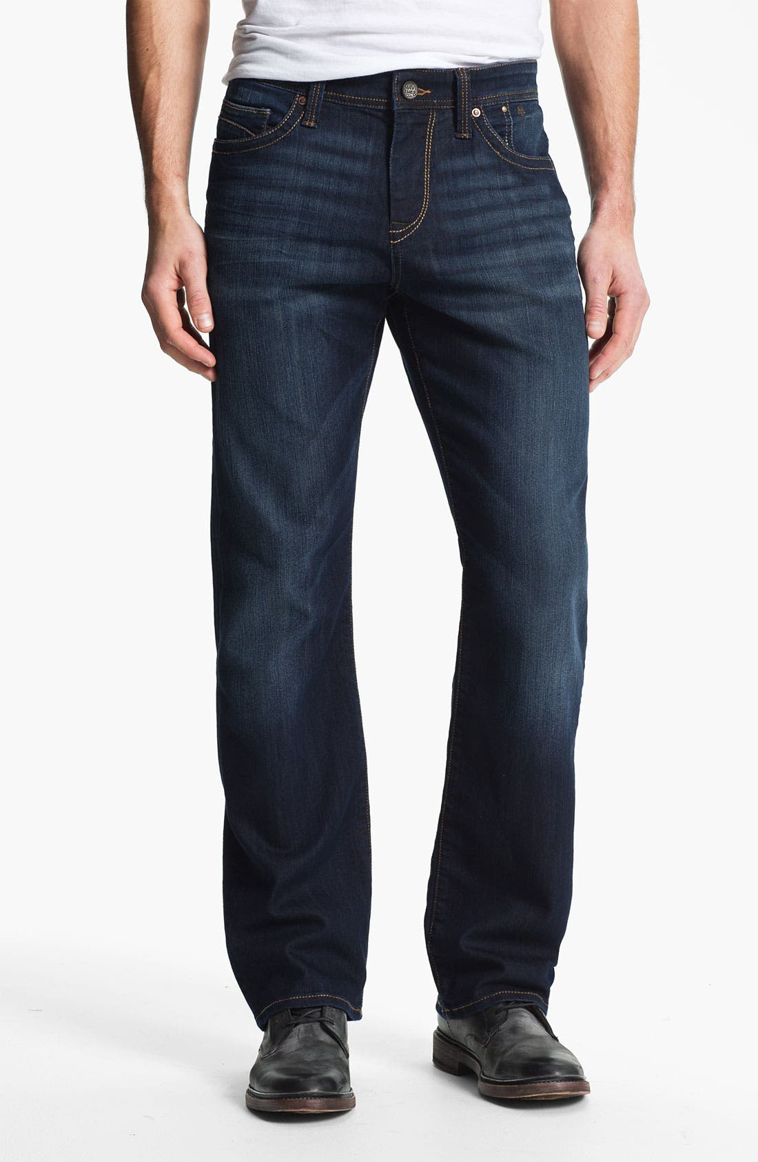 Alternate Image 2  - Mavi Jeans 'Matt' Relaxed Straight Leg Jeans (Deep Eastwood)