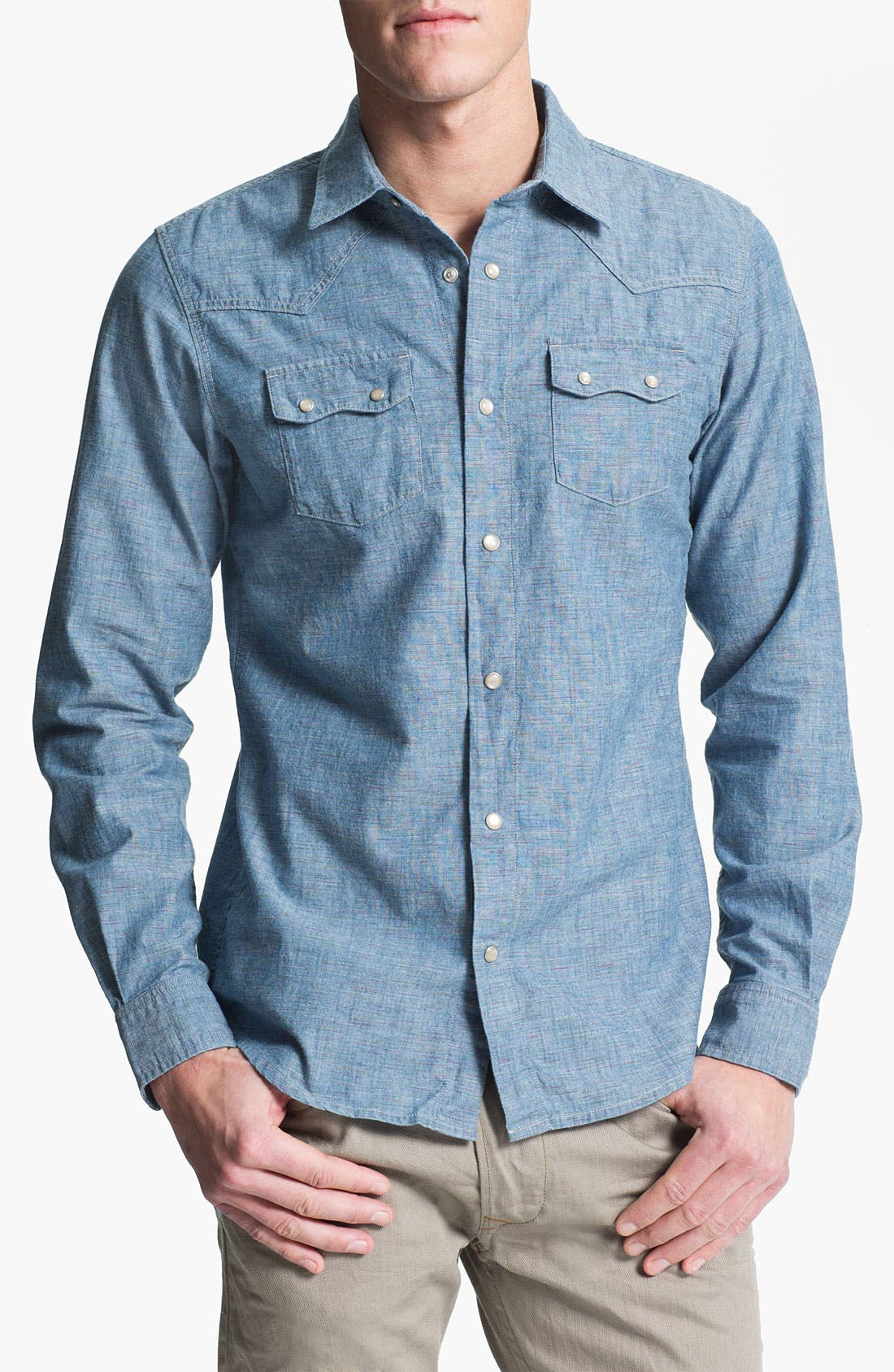 Main Image - 55DSL 'Saloon' Slub Chambray Western Shirt