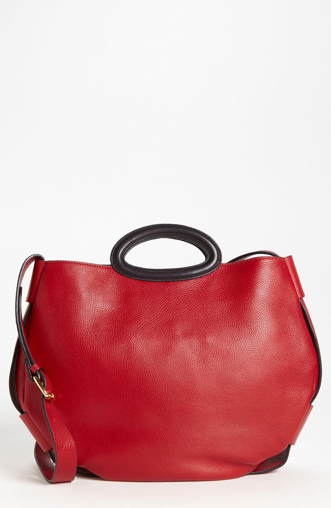 Alternate Image 1 Selected - Marni 'Balloon - Medium' Leather Crossbody Bag