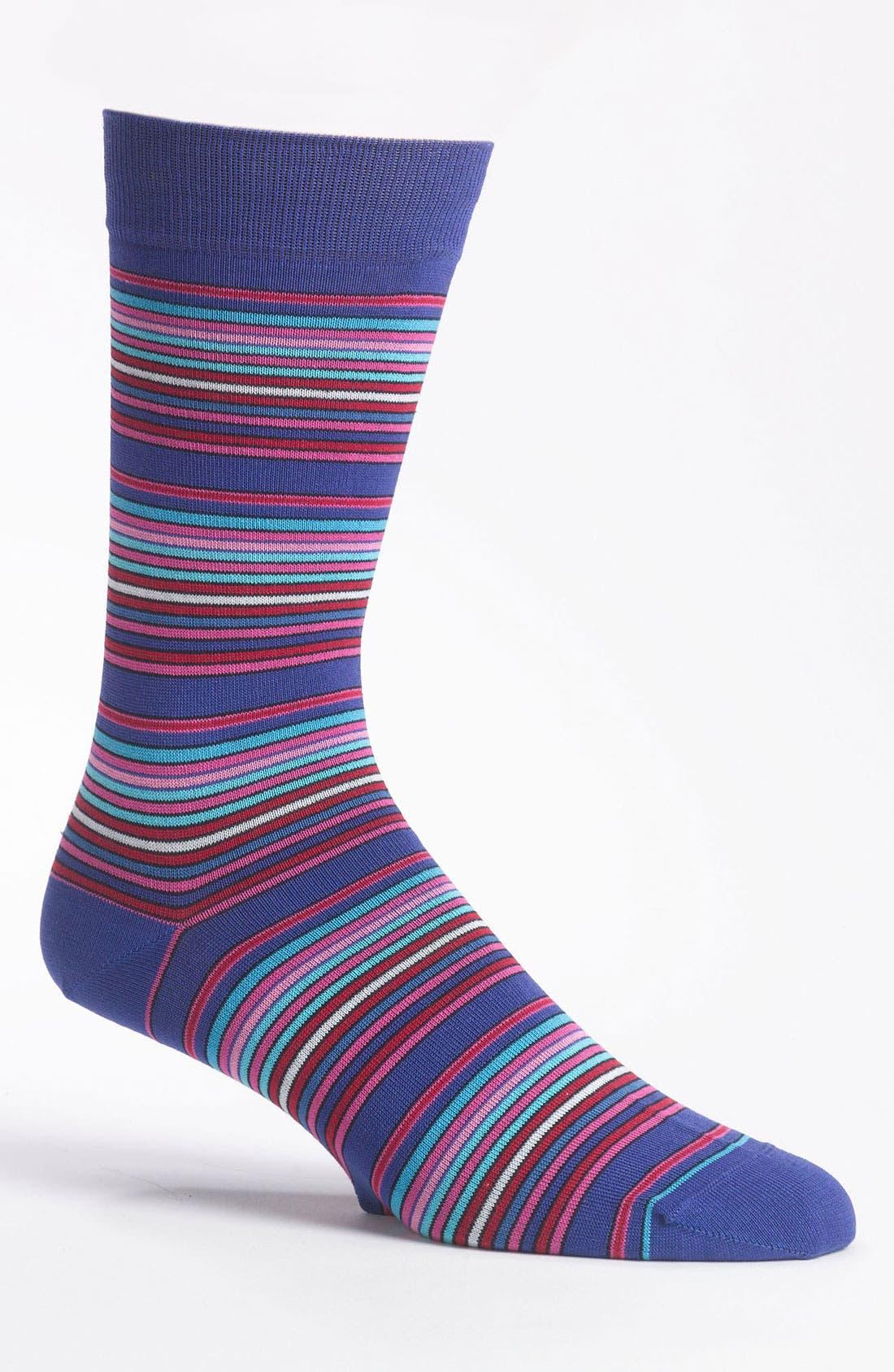 Alternate Image 1 Selected - Bugatchi Multi Stripe Socks