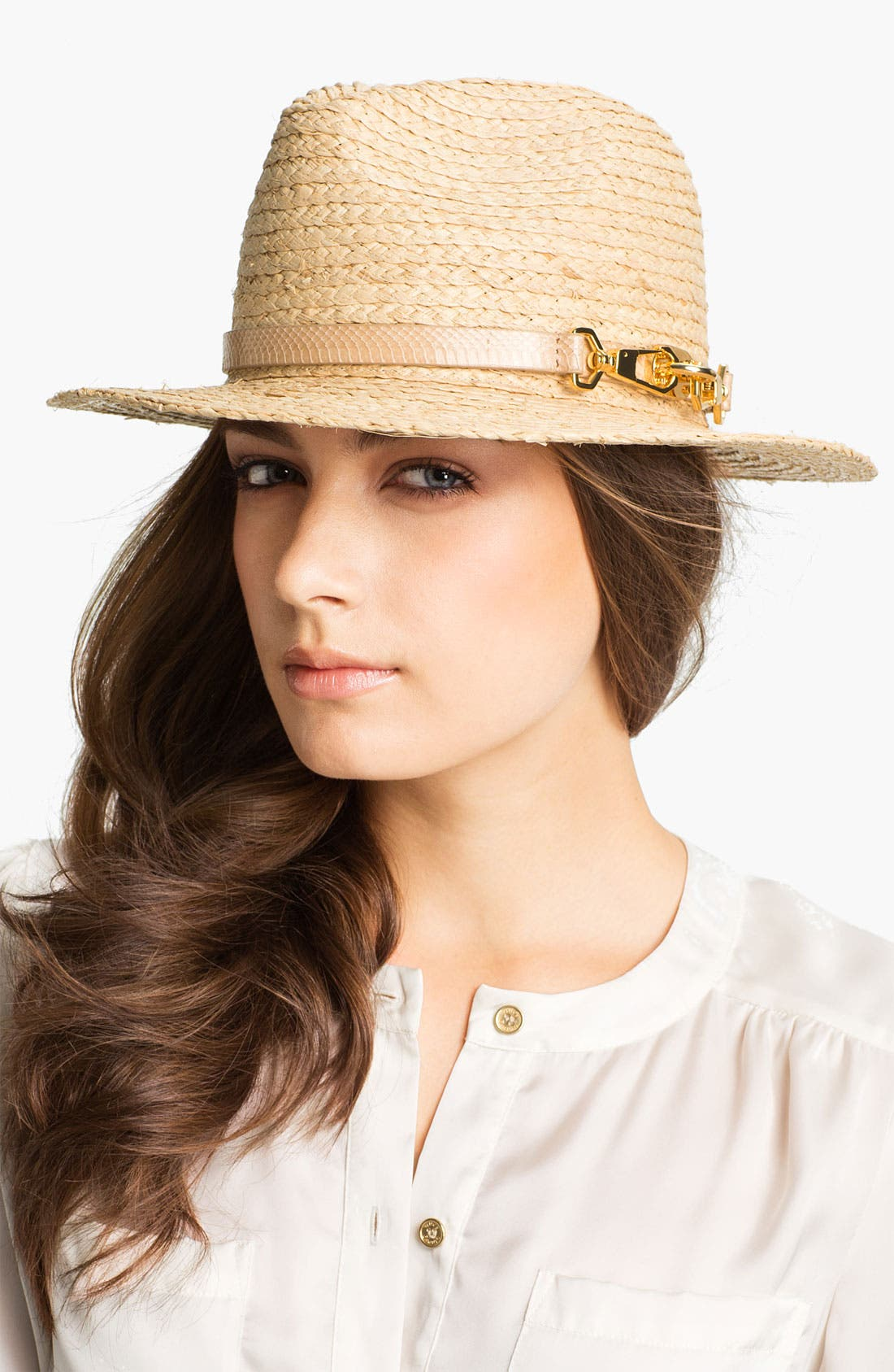 Alternate Image 1 Selected - Rachel Zoe Woven Fedora
