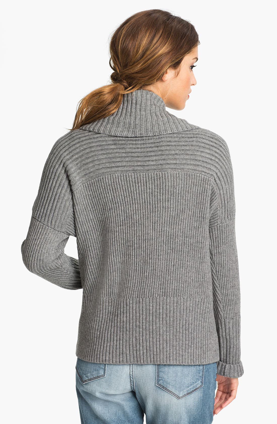 Alternate Image 2  - Vince Camuto Open Front Ribbed Cardigan