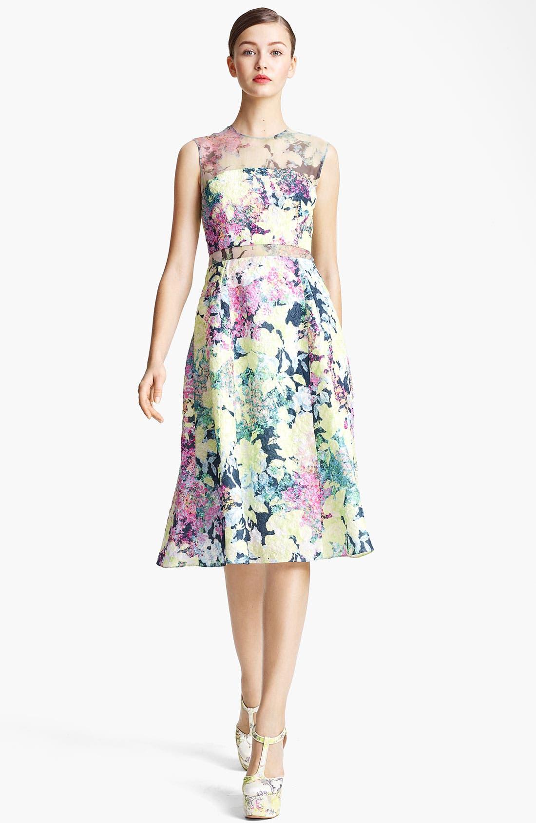Main Image - Erdem 'Imperial Rose' Print Silk Brocade Dress