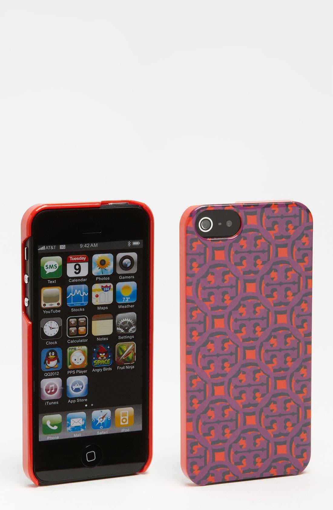 Main Image - Tory Burch Logo Lattice iPhone 5 Case