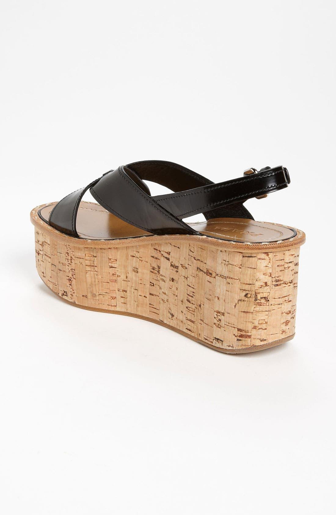 Alternate Image 2  - Prada 'Criss Cross' Wedge Sandal