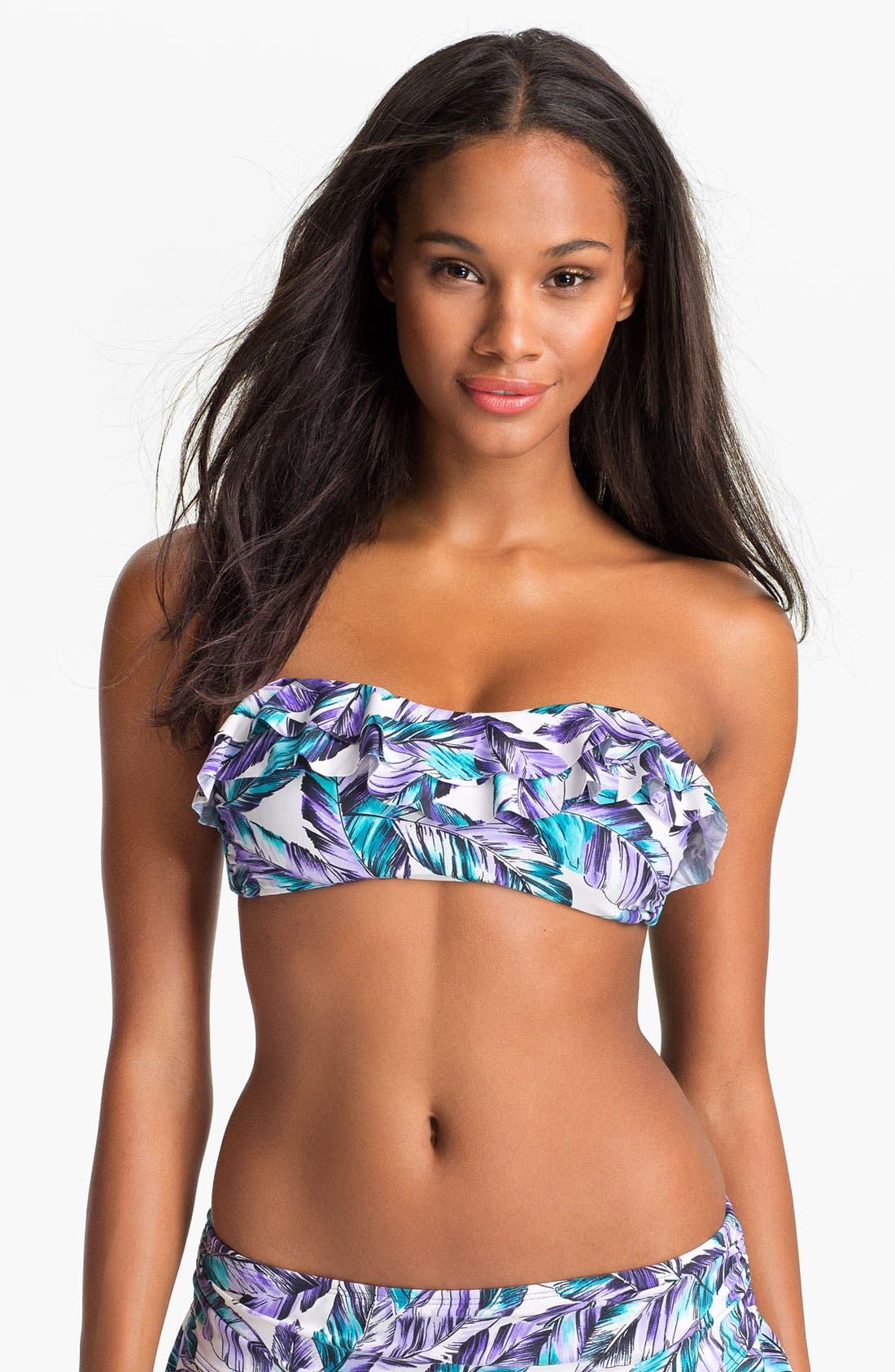 Main Image - Eco Swim Ruffle Bandeau Bikini Top